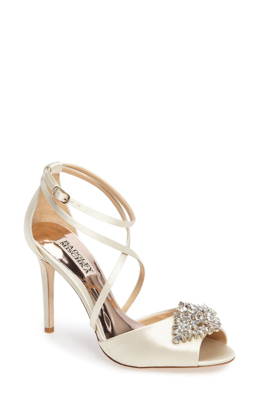 Badgley Mischka Tatum Embellished Strappy Sandal (Women)