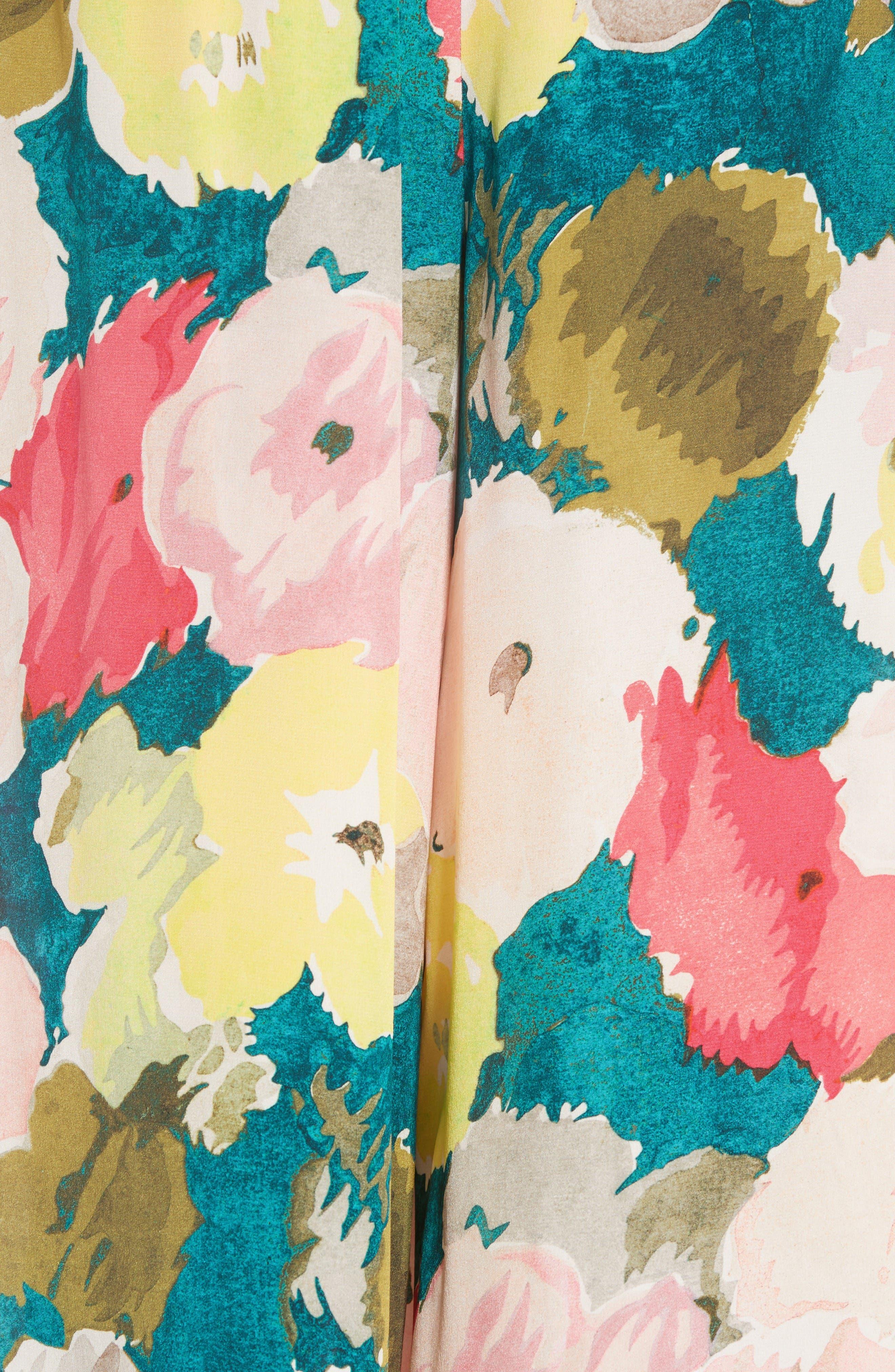 Alternate Image 3  - Lafayette 148 New York Floral Silk Drawstring Pants