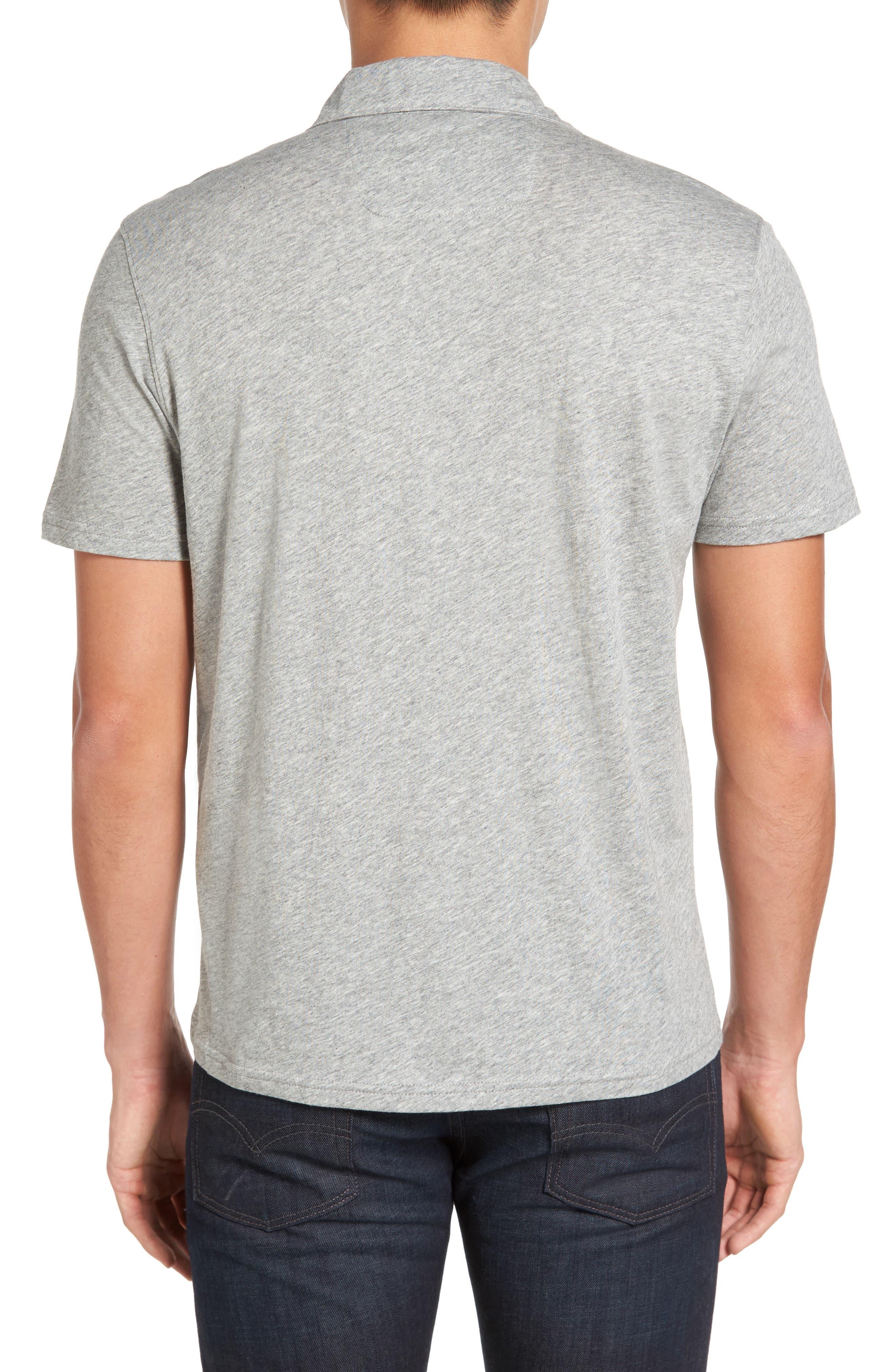 Breve Jersey Polo,                             Alternate thumbnail 2, color,                             Light Grey