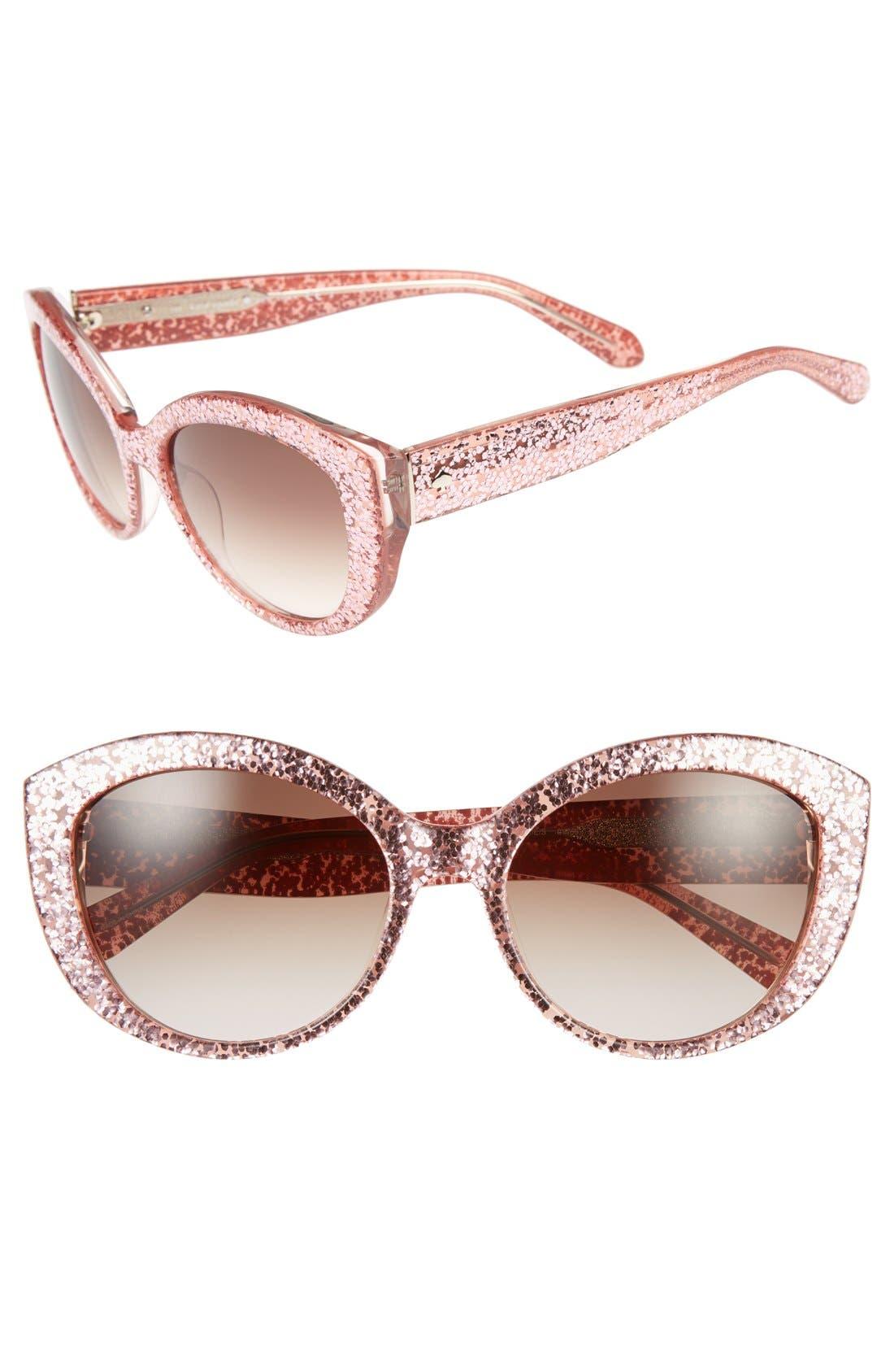 Main Image - kate spade new york 'sherrie' 55mm cat eye sunglasses