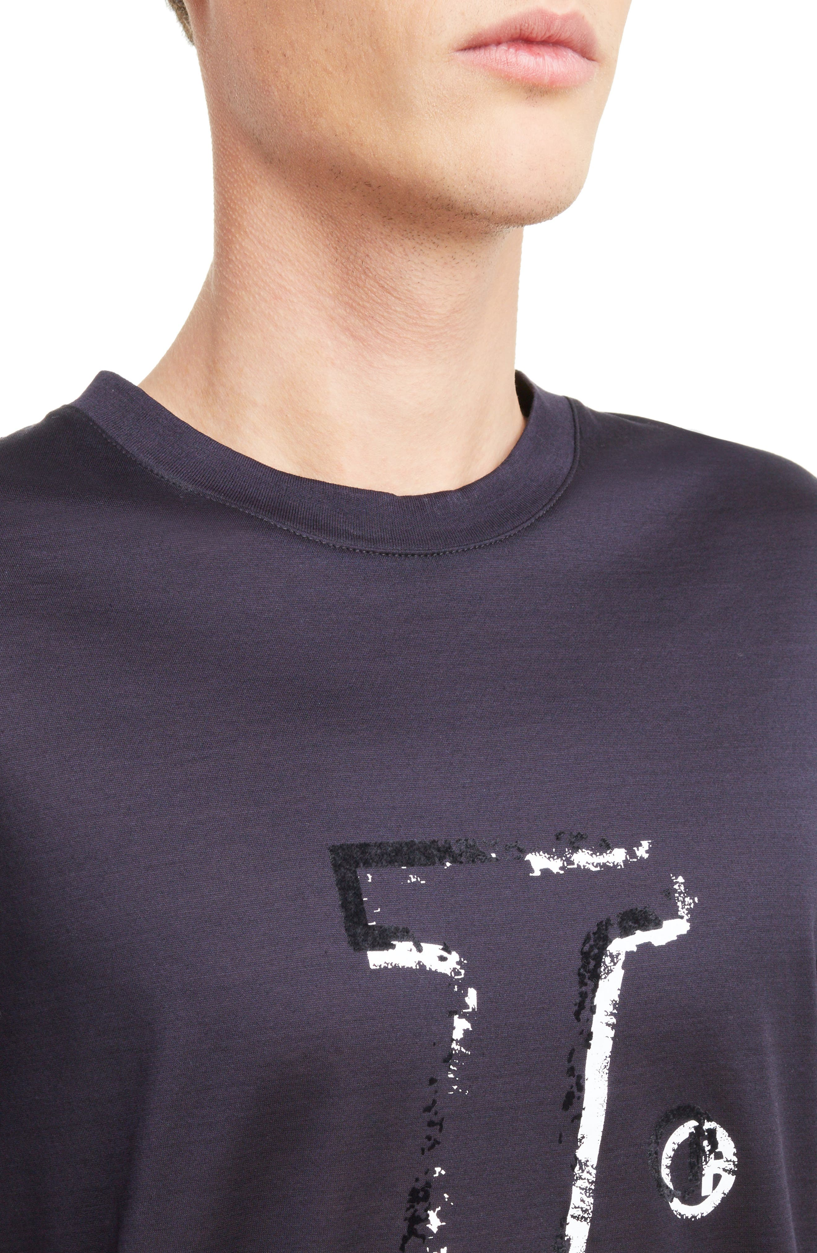 Graphic T-Shirt,                             Alternate thumbnail 4, color,                             Midnight Blue