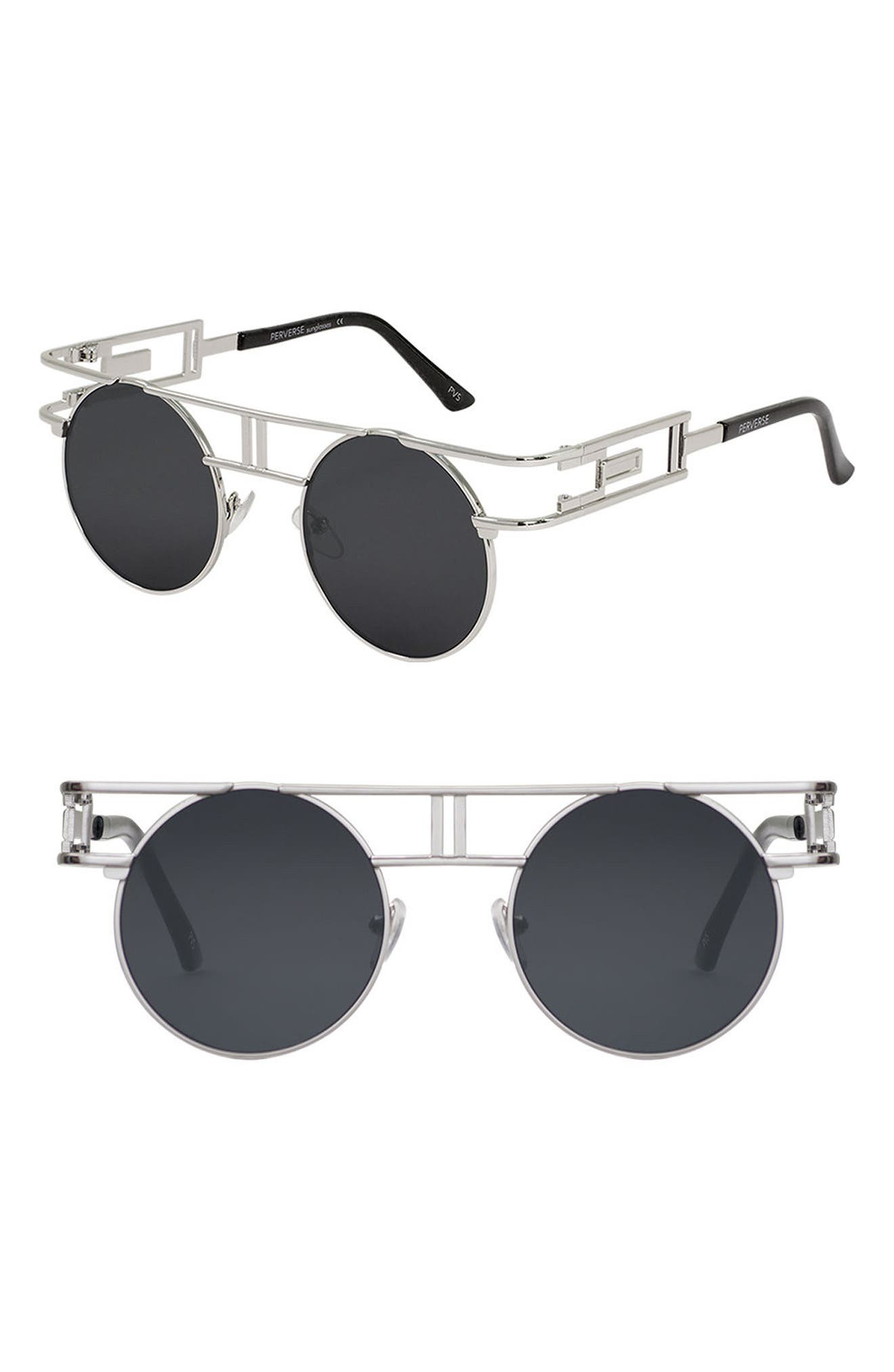 Alternate Image 1 Selected - PERVERSE Steampunk Round Sunglasses