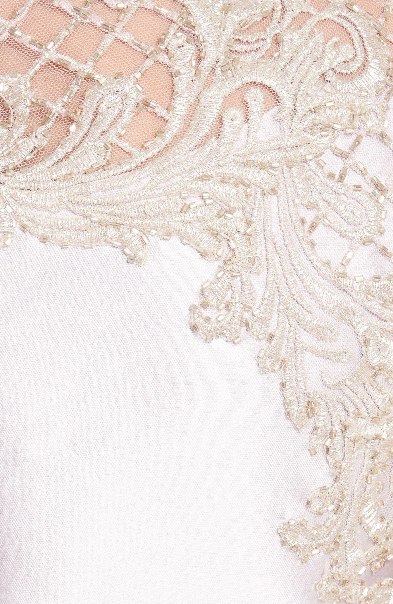 Alternate Image 3  - Marchesa Embellished Tulle & Wool Dress