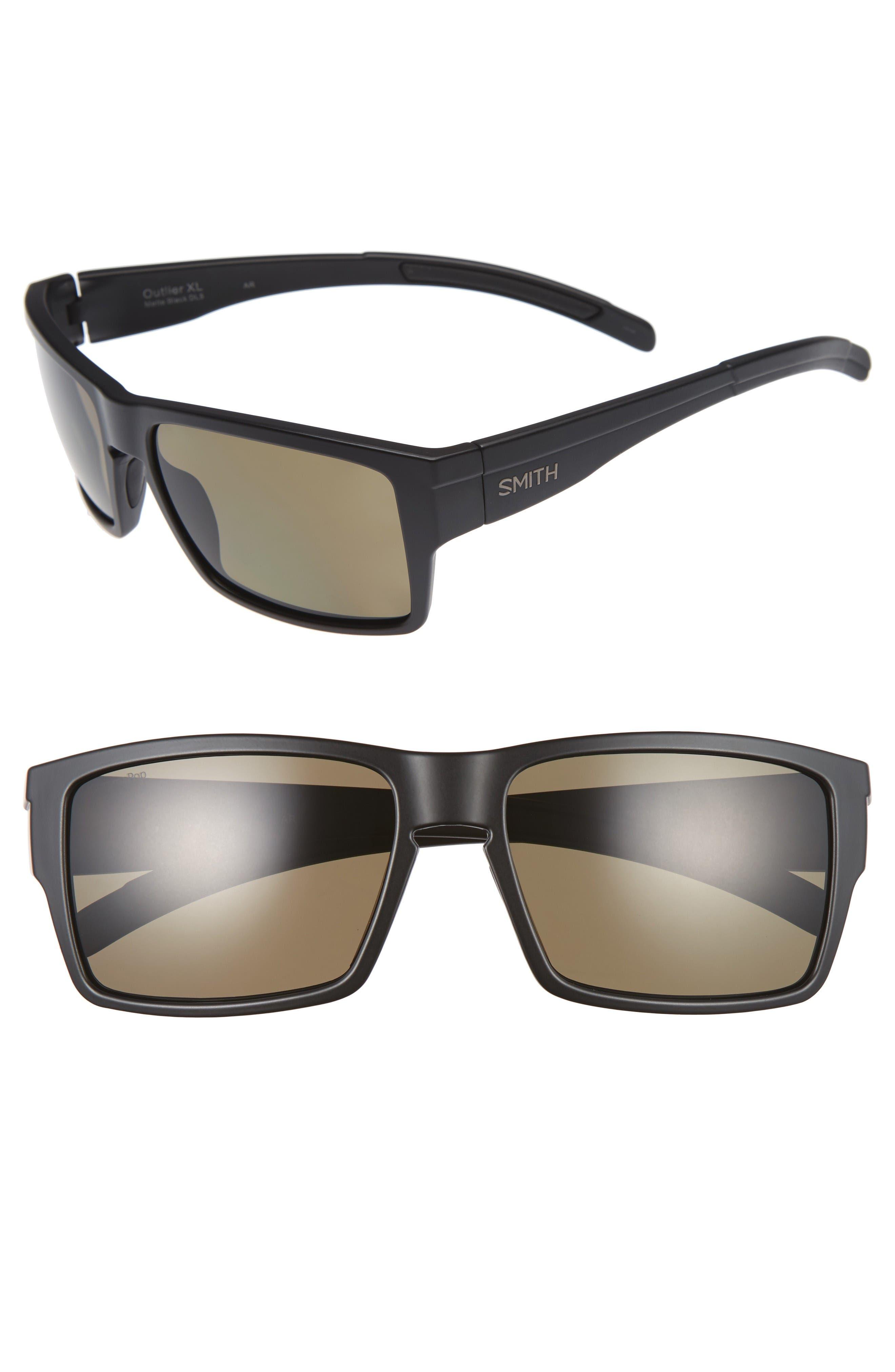 Outlier XL 58mm Polarized Sunglasses,                         Main,                         color, Matte Black