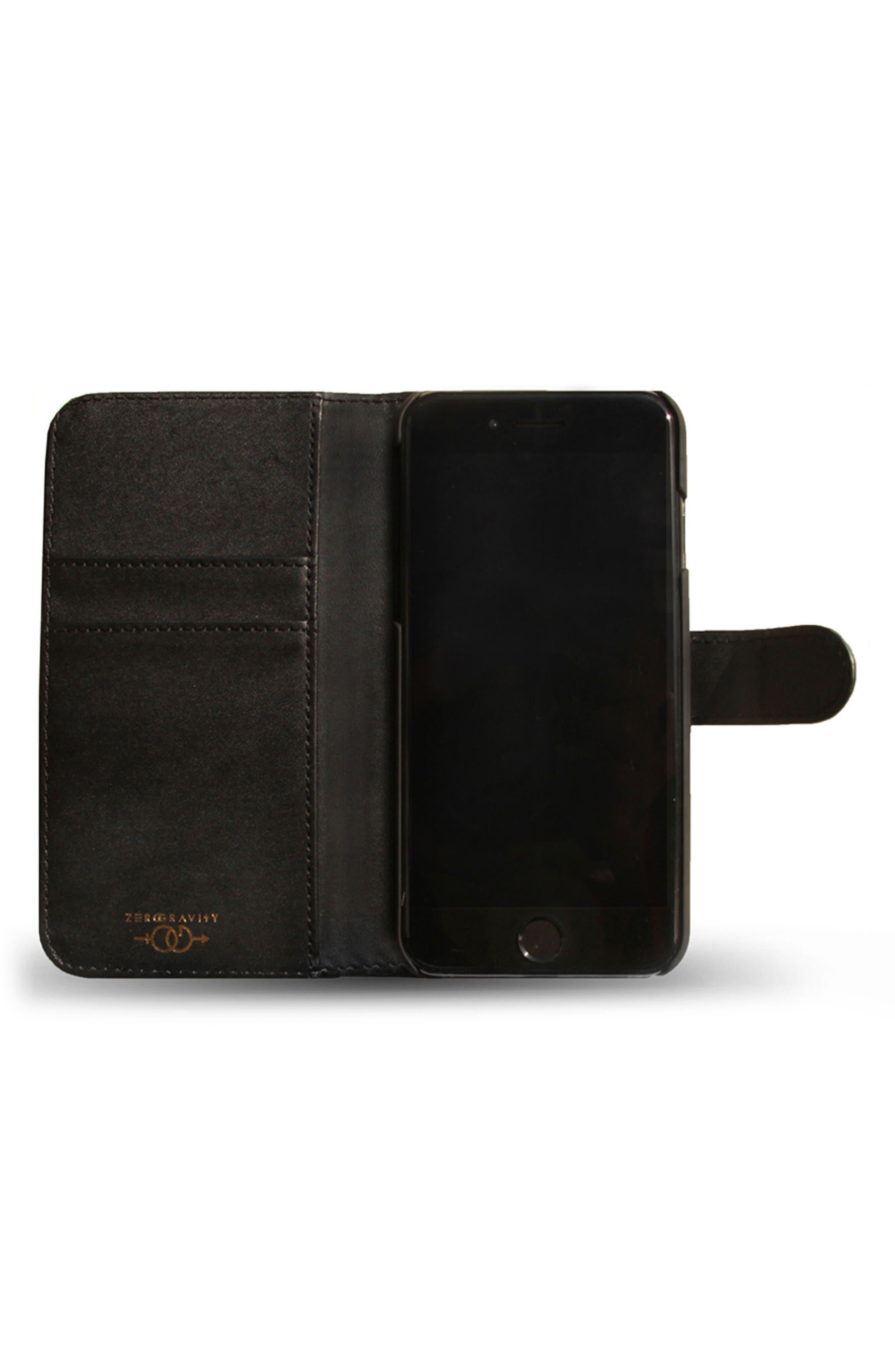 Gather iPhone 7 Wallet,                             Alternate thumbnail 2, color,                             Black Multi
