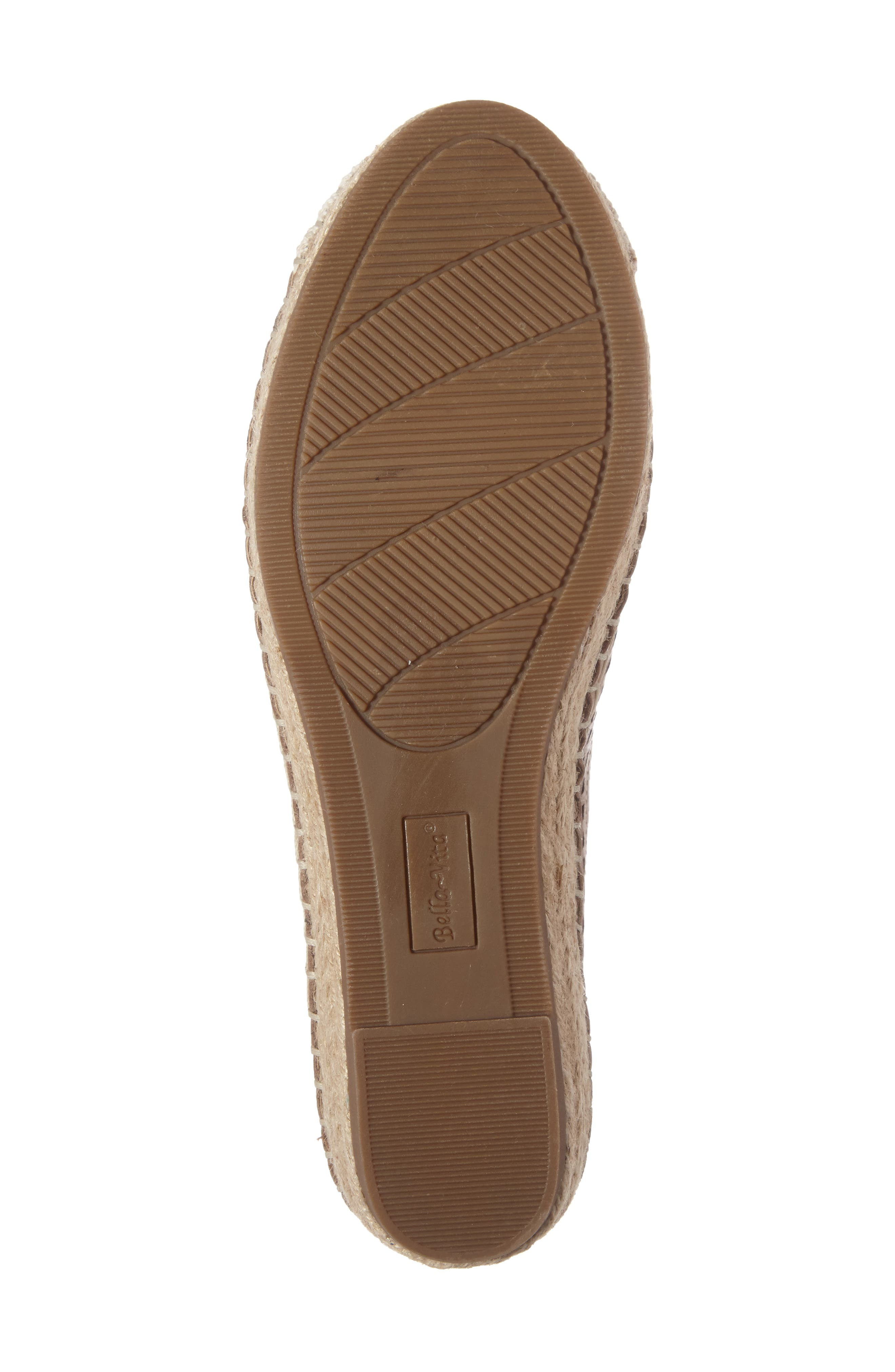 Channing Cutout Espadrille Loafer,                             Alternate thumbnail 4, color,                             Saddle Leather