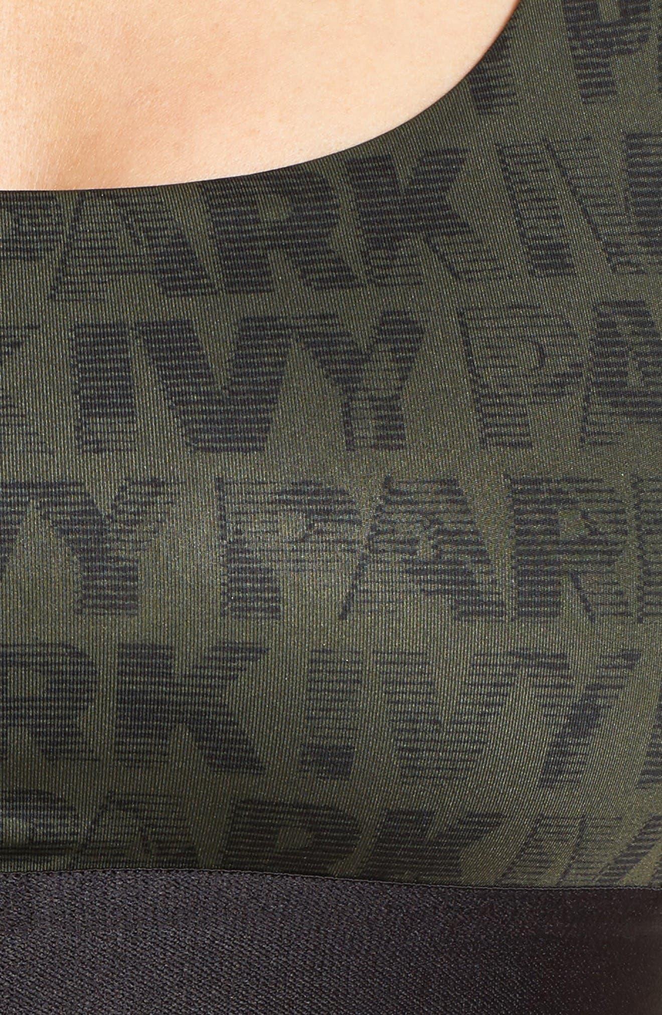 Alternate Image 5  - IVY PARK® Logo Mesh Inset Sports Bra