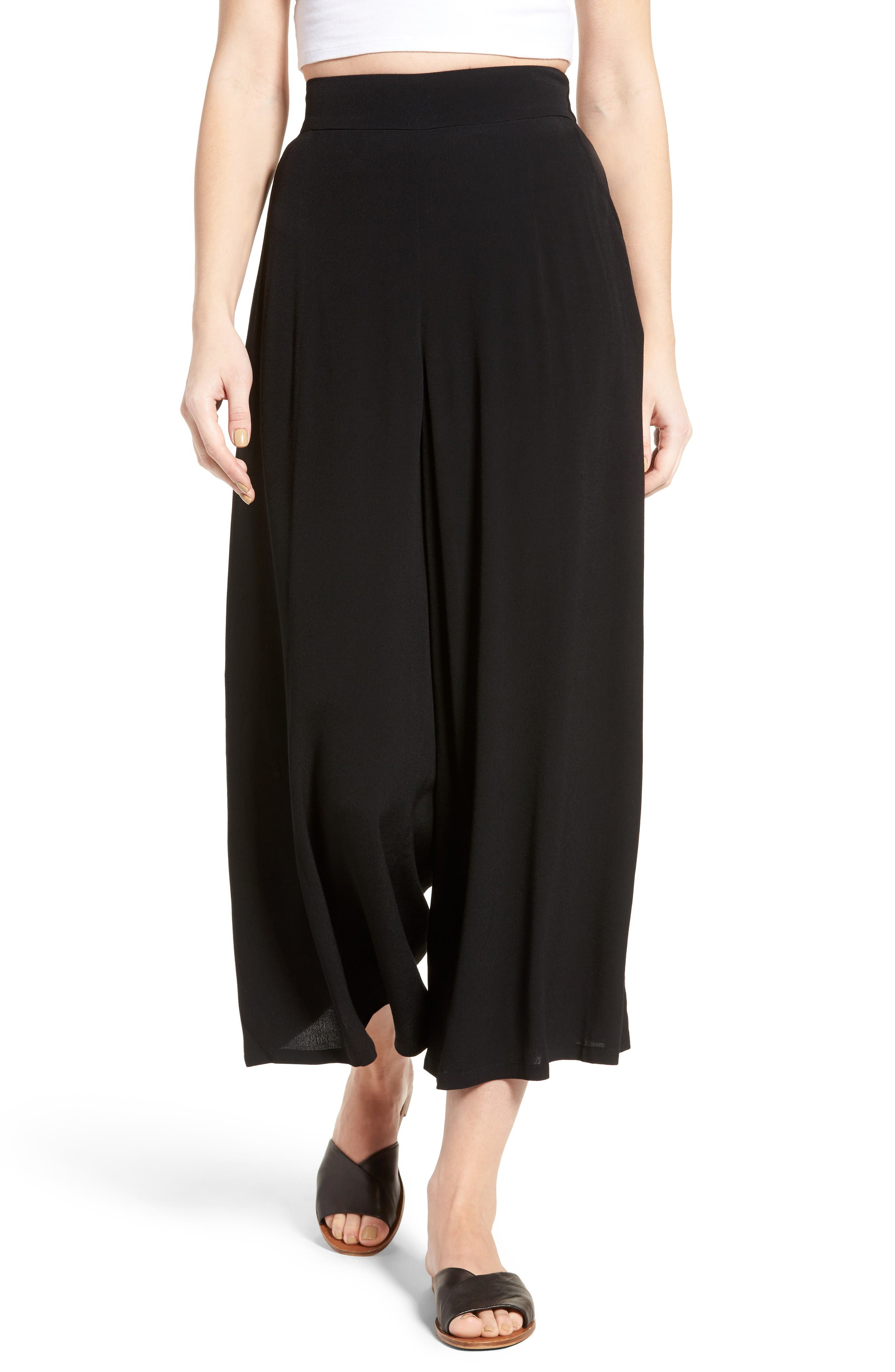 Alternate Image 1 Selected - Leith High Waist Crop Wide Leg Pants