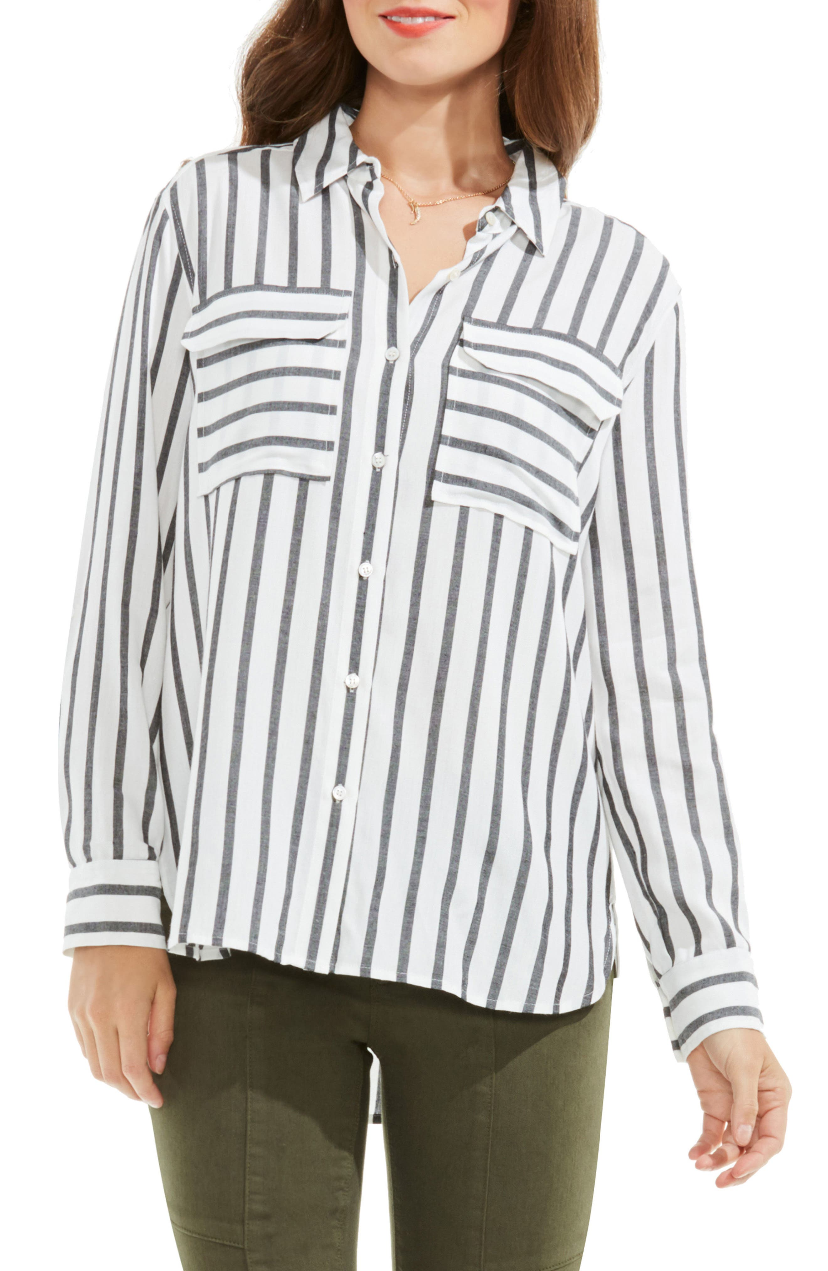 Alternate Image 1 Selected - Two by Vince Camuto Stripe Utility Shirt