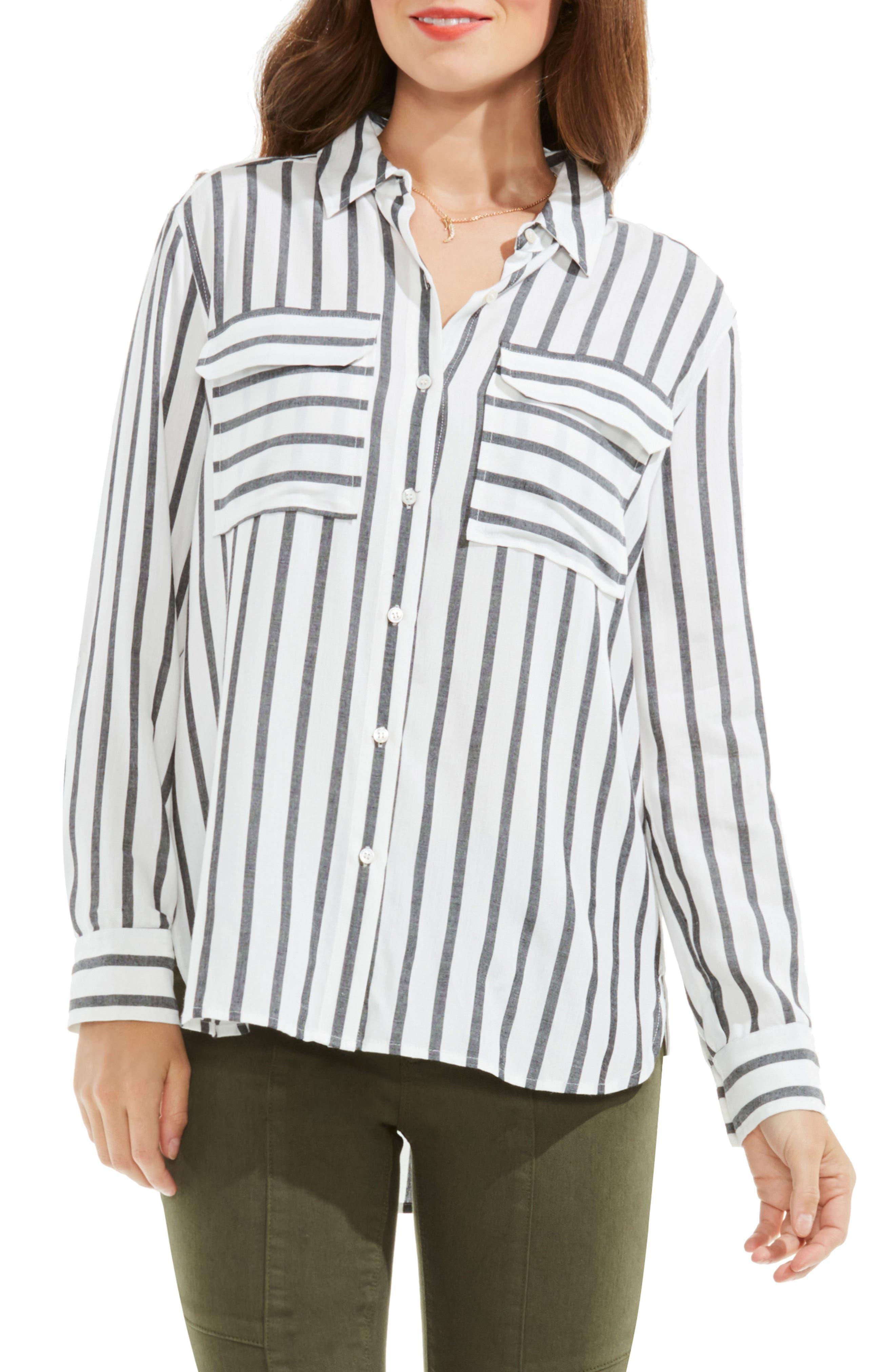 Stripe Utility Shirt,                         Main,                         color, New Ivory