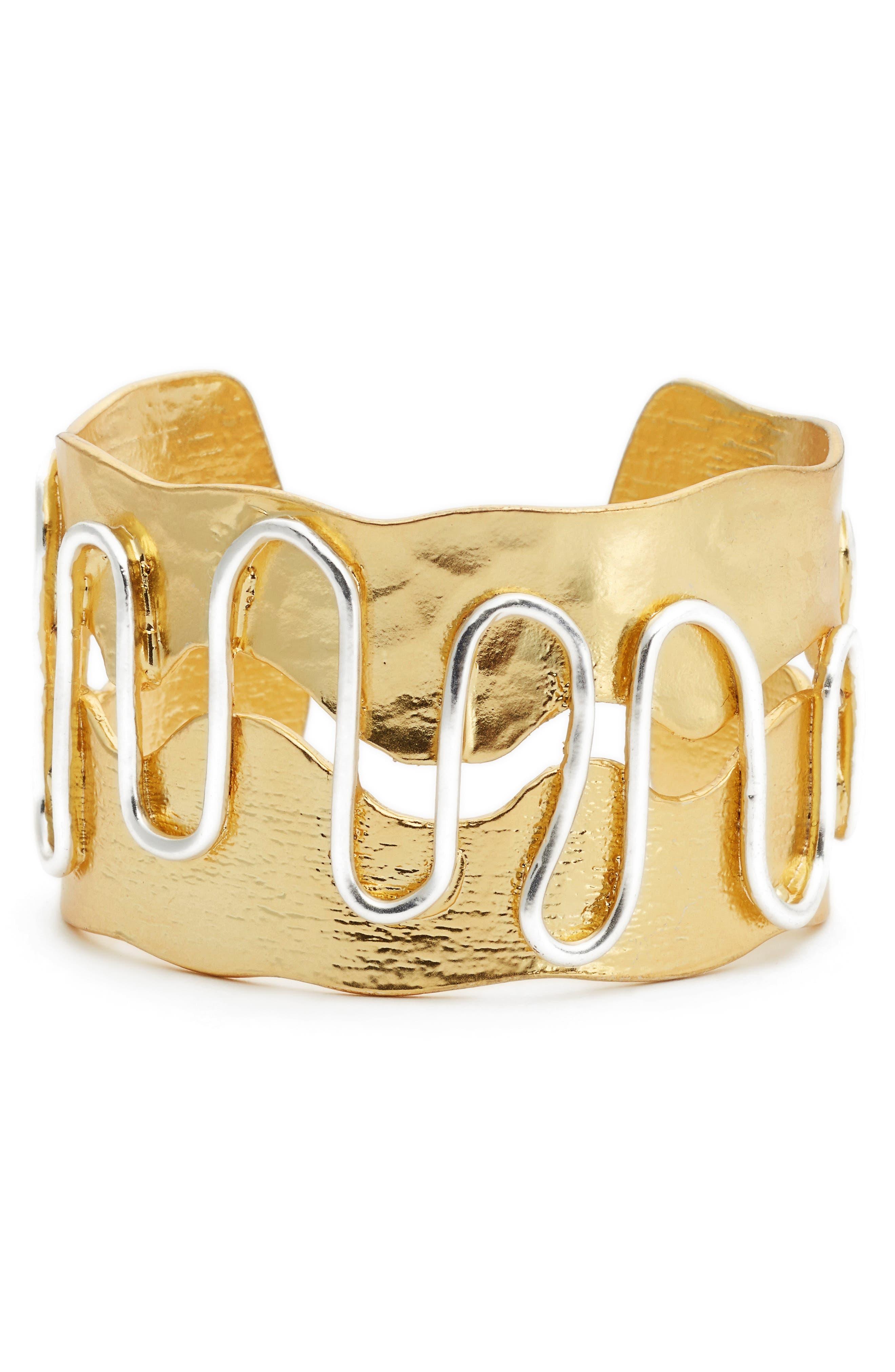 Swirl Cuff,                         Main,                         color, Gold