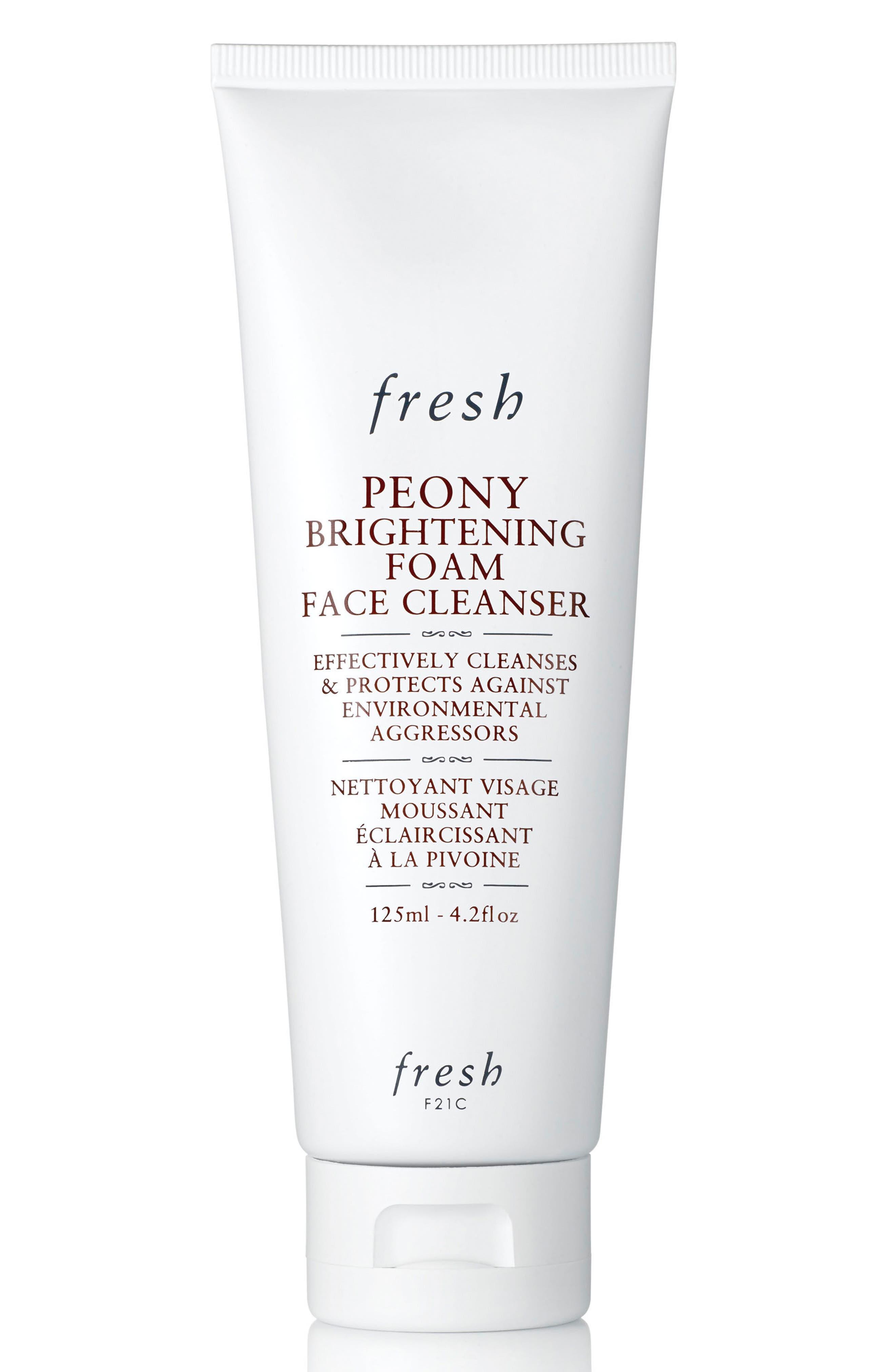 Main Image - Fresh® Peony Brightening Foam Face Cleanser