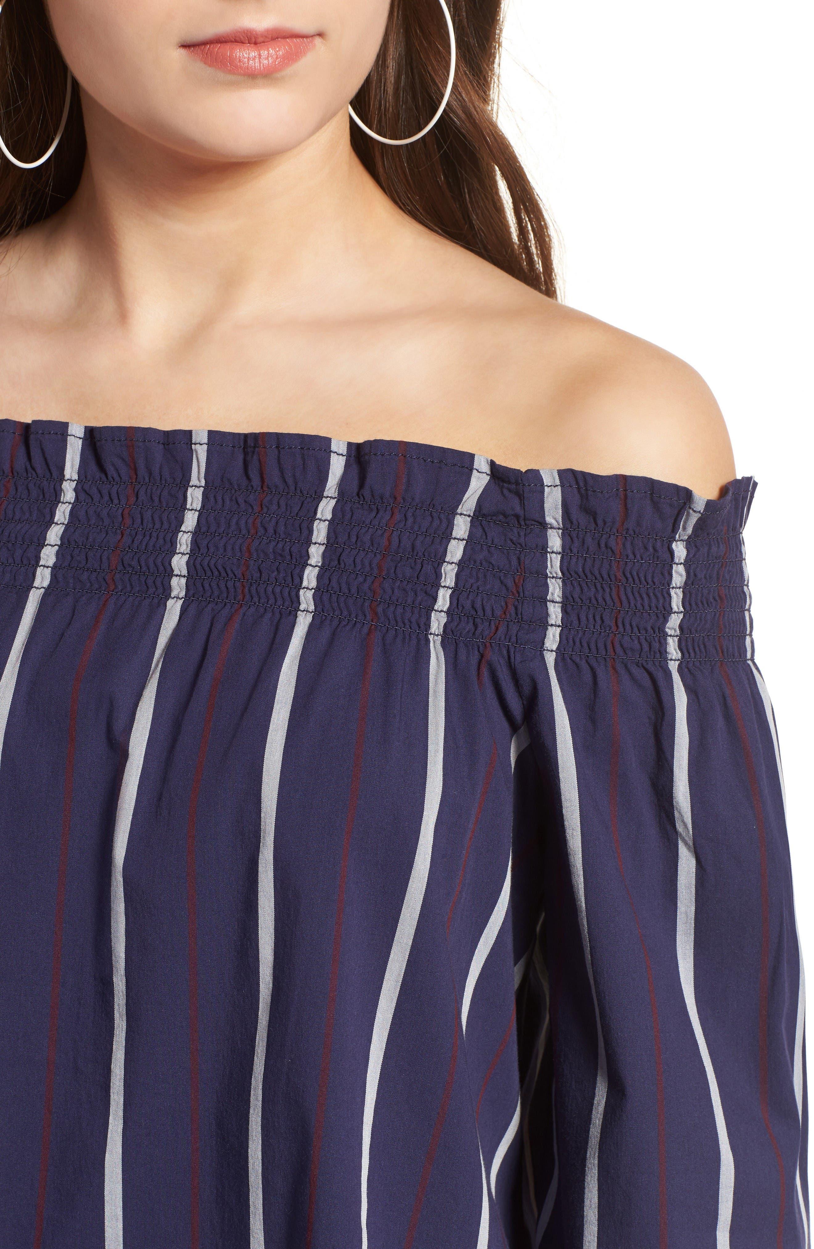 Alternate Image 4  - BP. Stripe Off the Shoulder Top