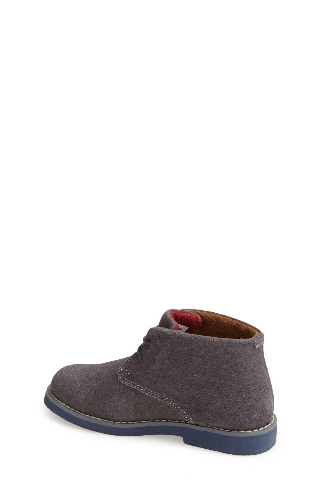'Quinlan' Chukka Boot,                             Alternate thumbnail 2, color,                             Grey/ Navy Sole