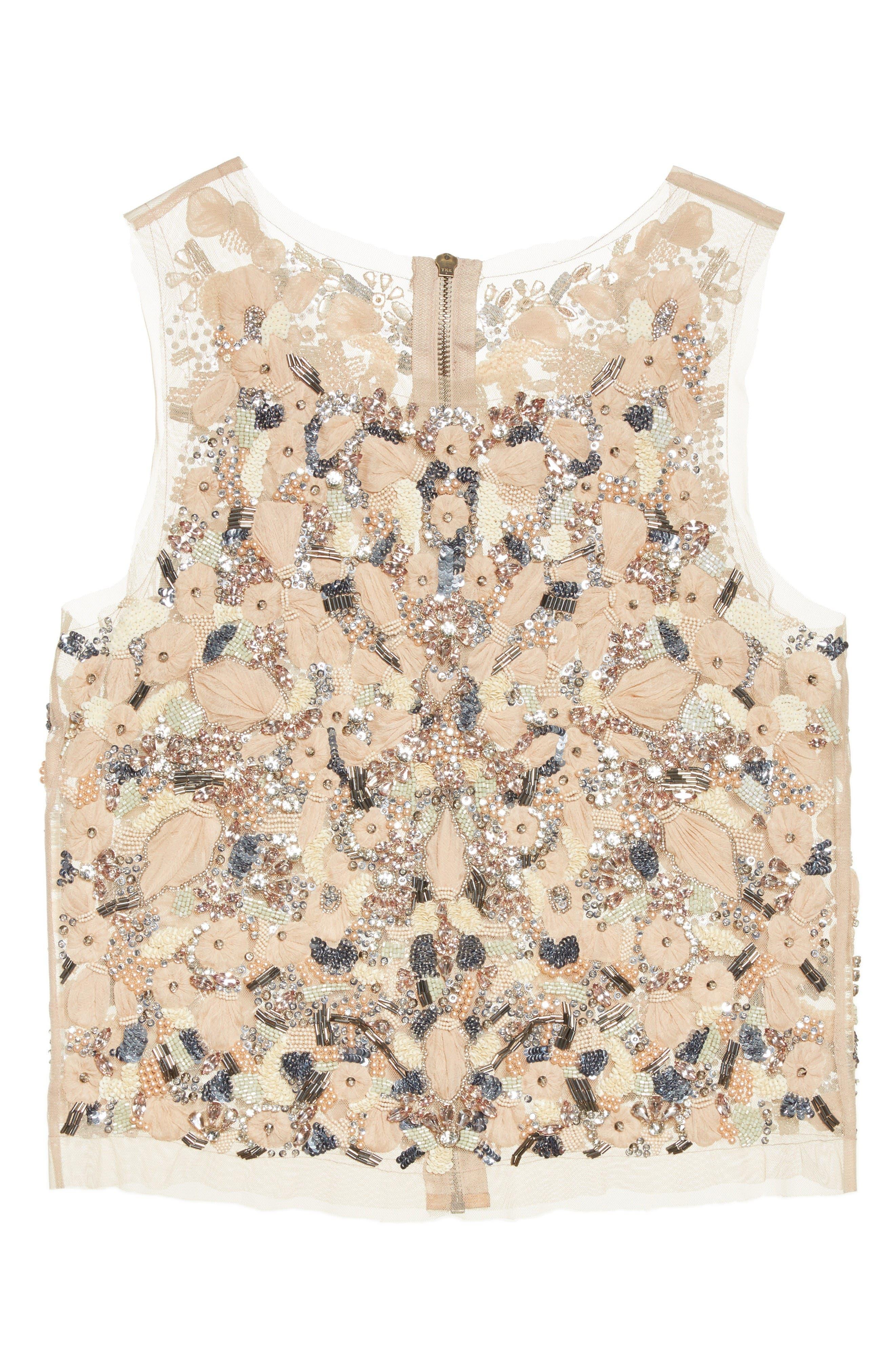 Alternate Image 4  - Badgley Mischka Couture Beaded Top