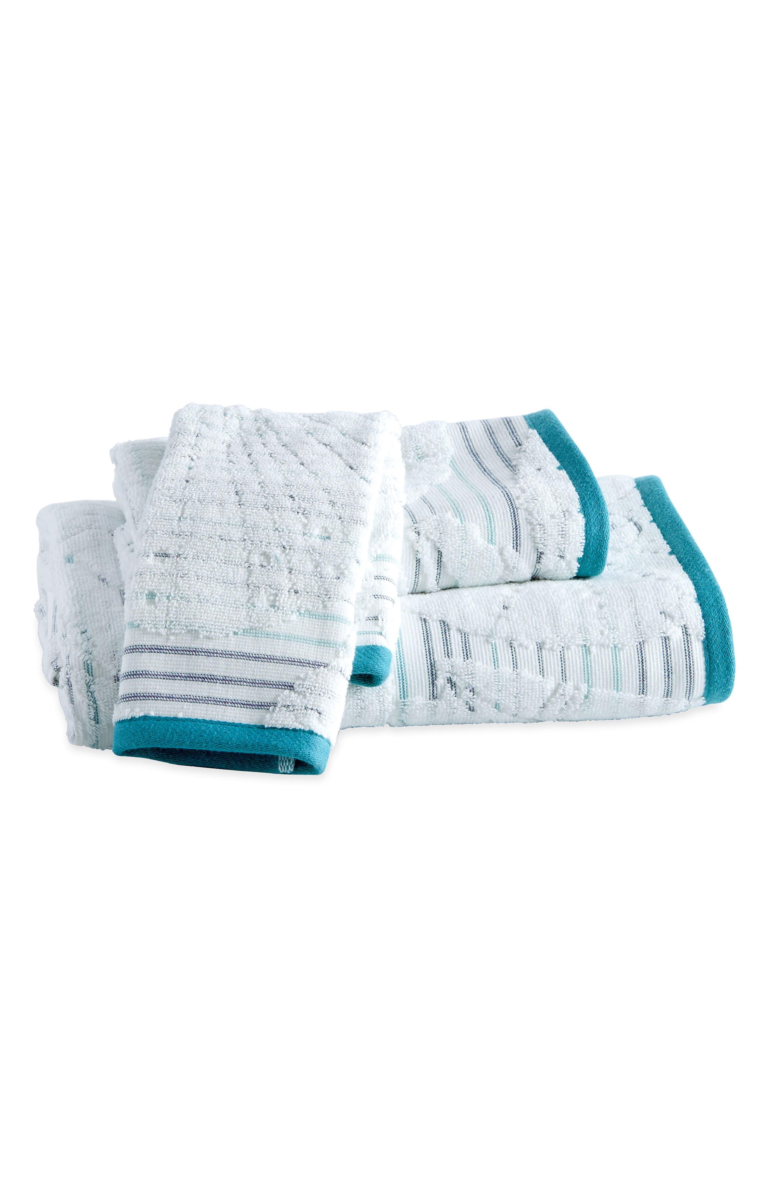 Main Image - Destinations Mykonos Bath Towel, Hand Towel and Washcloth Set