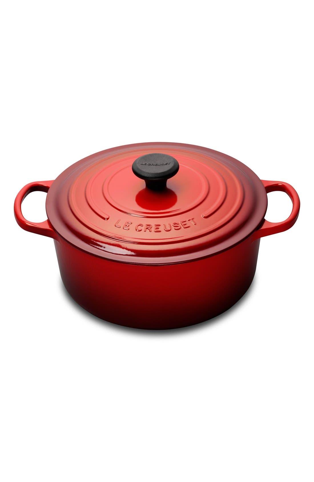 Le Creuset Signature 5 1/2 Quart Round Enamel Cast Iron French/Dutch Oven