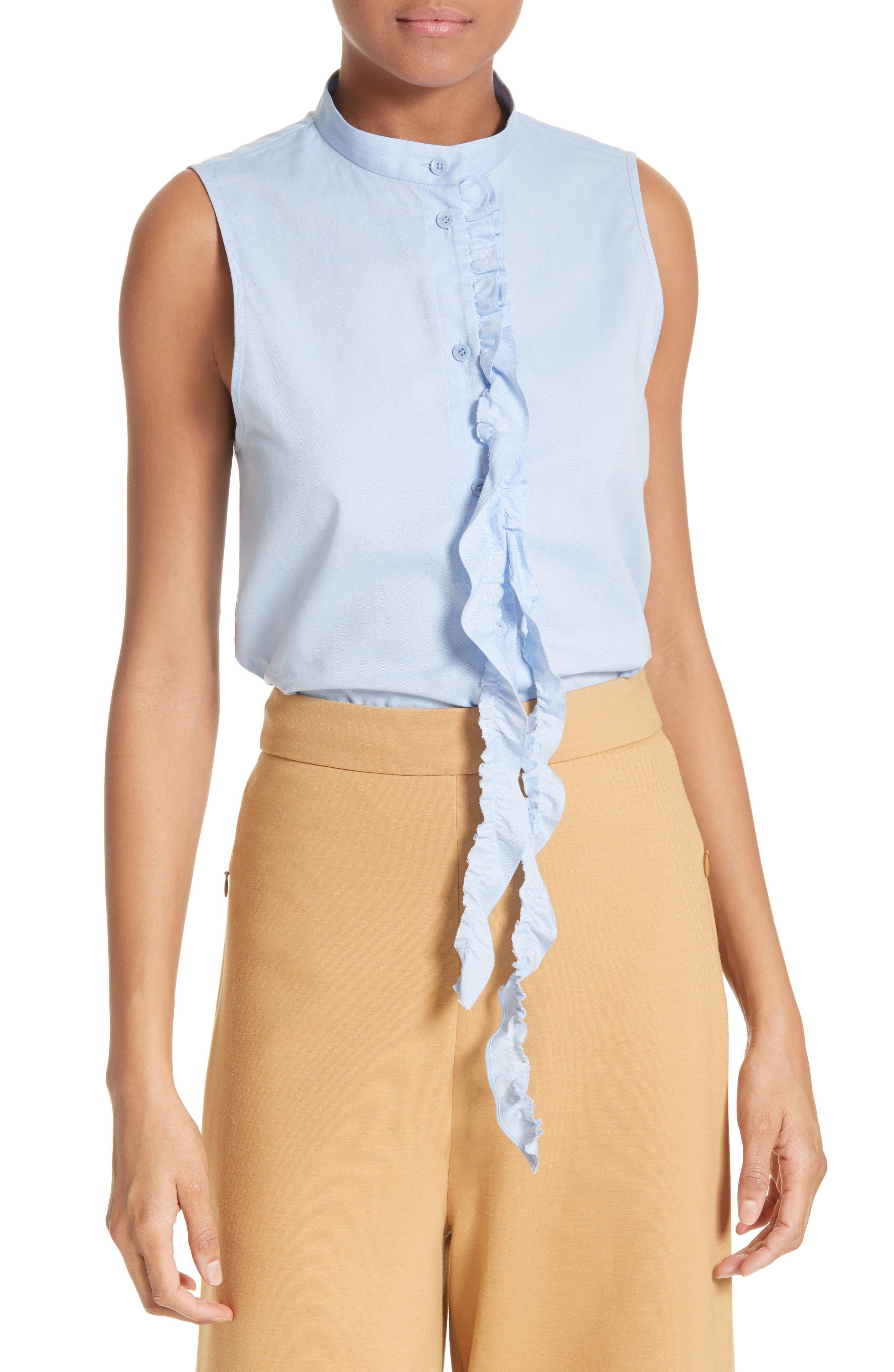 Ruggle Oxford Cotton Shirt,                             Main thumbnail 1, color,                             Light Blue