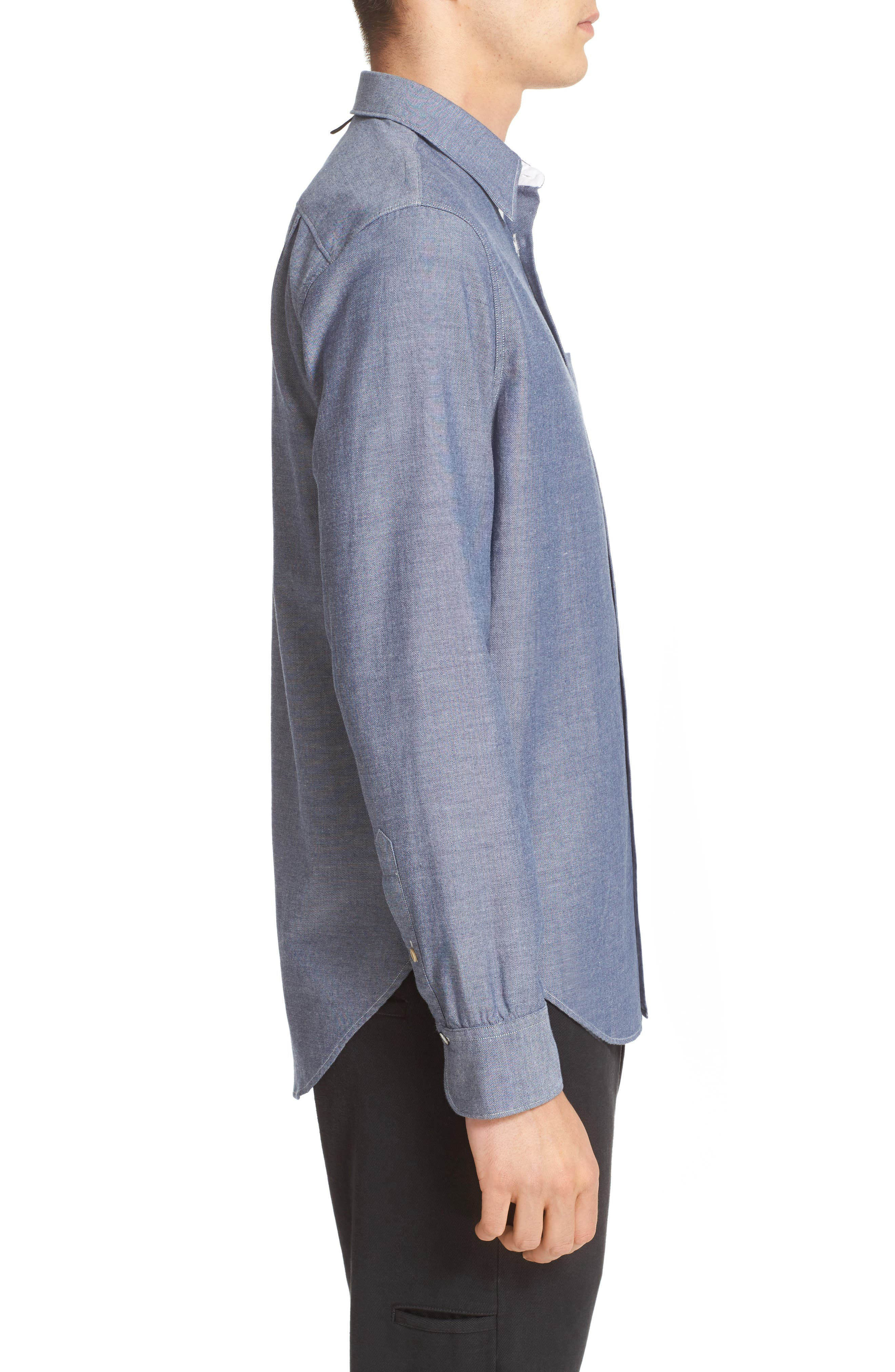 Alternate Image 4  - rag & bone Beach Trim Fit Sport Shirt