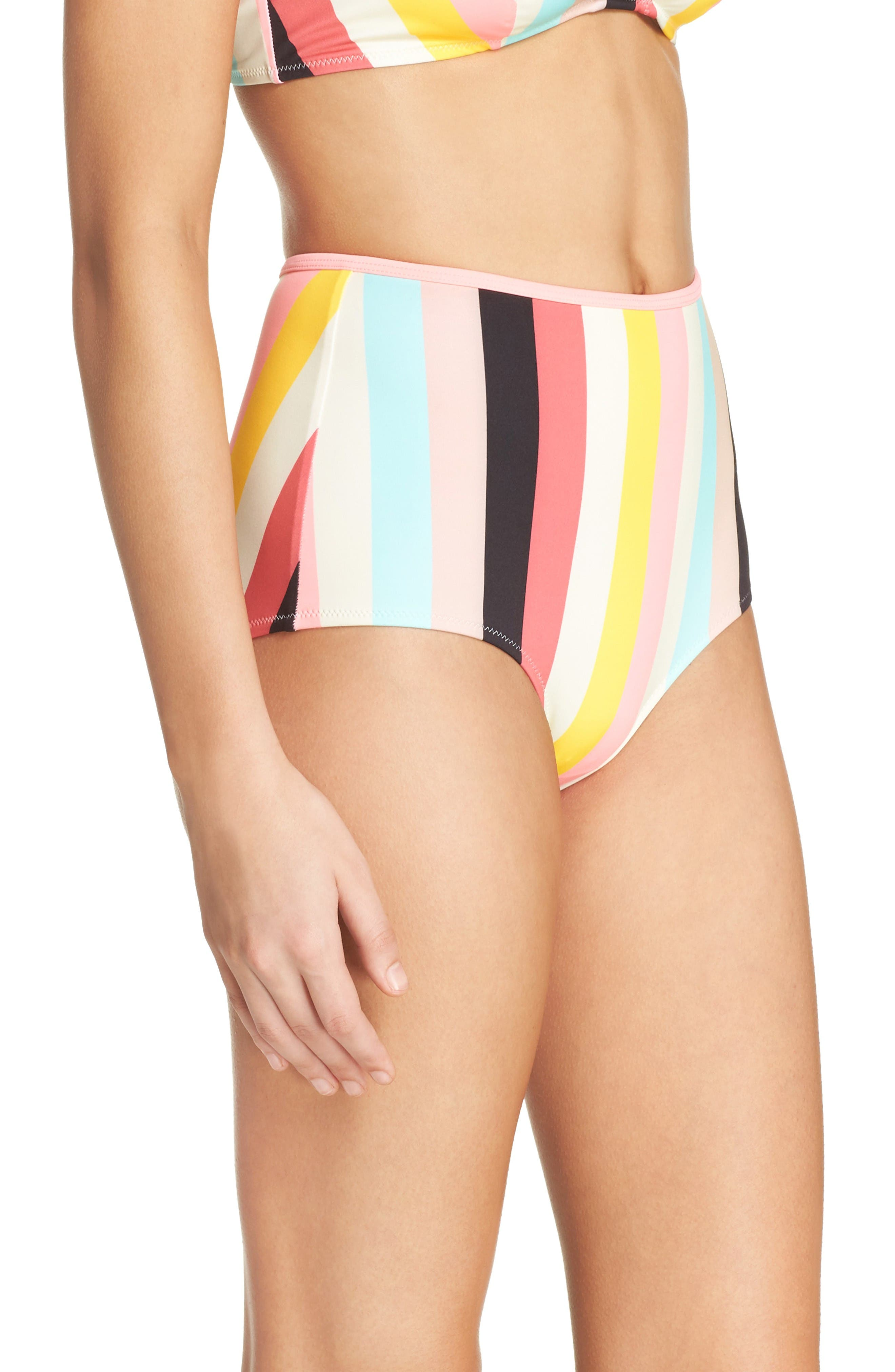 Alternate Image 3  - Solid & Striped Brigitte High Waist Bikini Bottoms