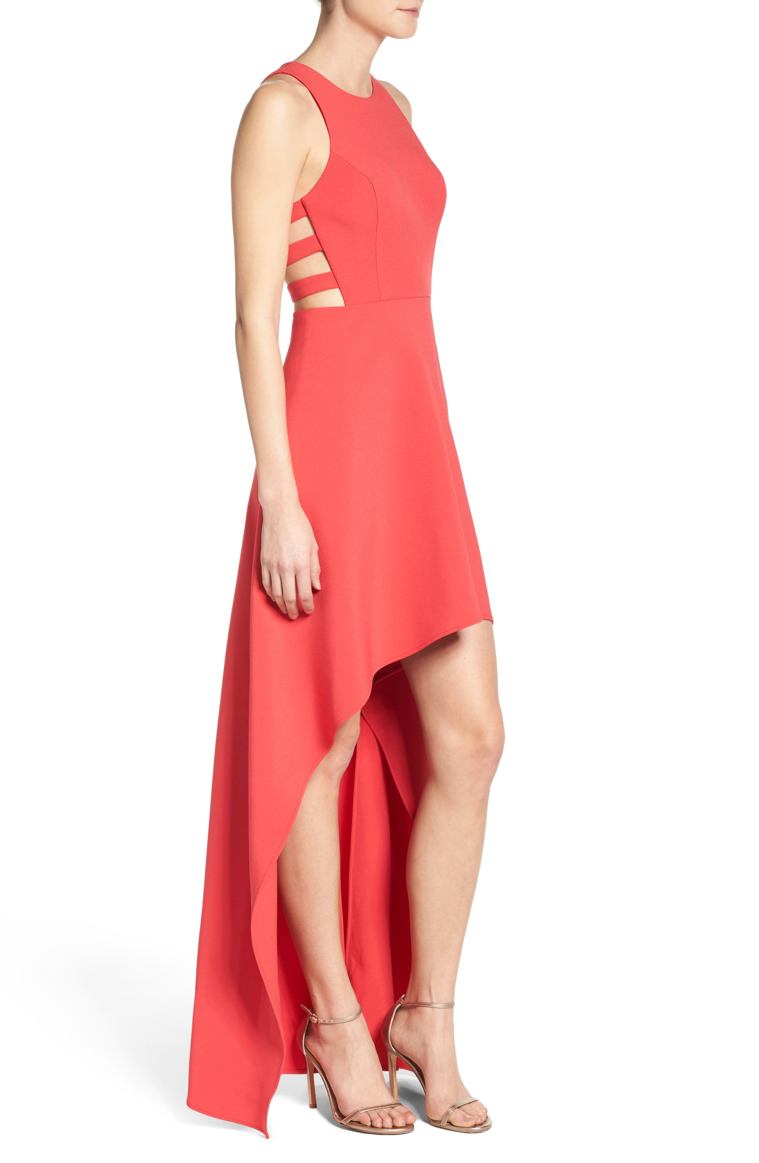 Alternate Image 3  - BCBGMAXAZRIA 'Rosalyn' Cutout High/Low Crepe Gown