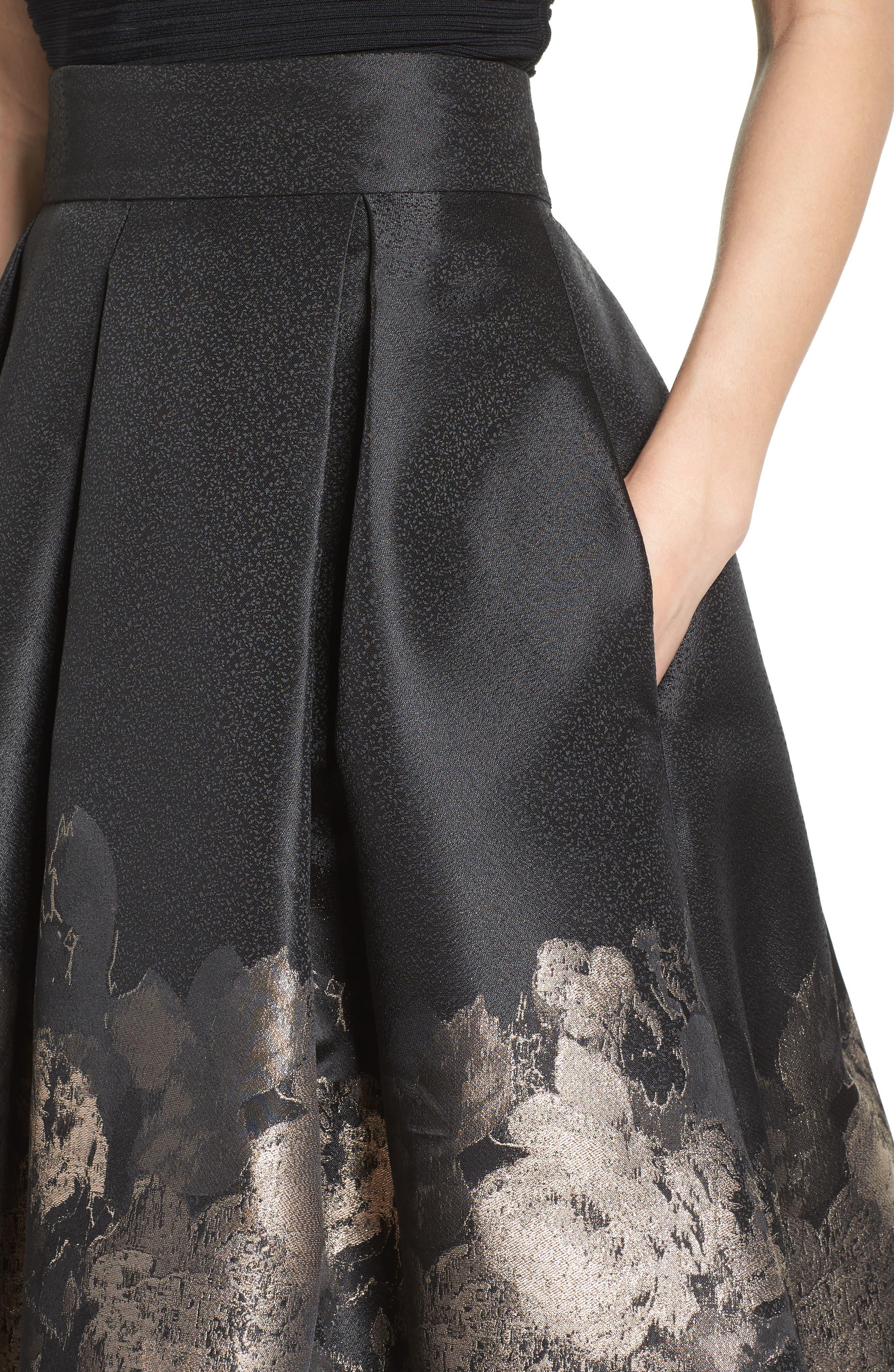 Alternate Image 5  - Eliza J Pleated Mikado Midi Skirt