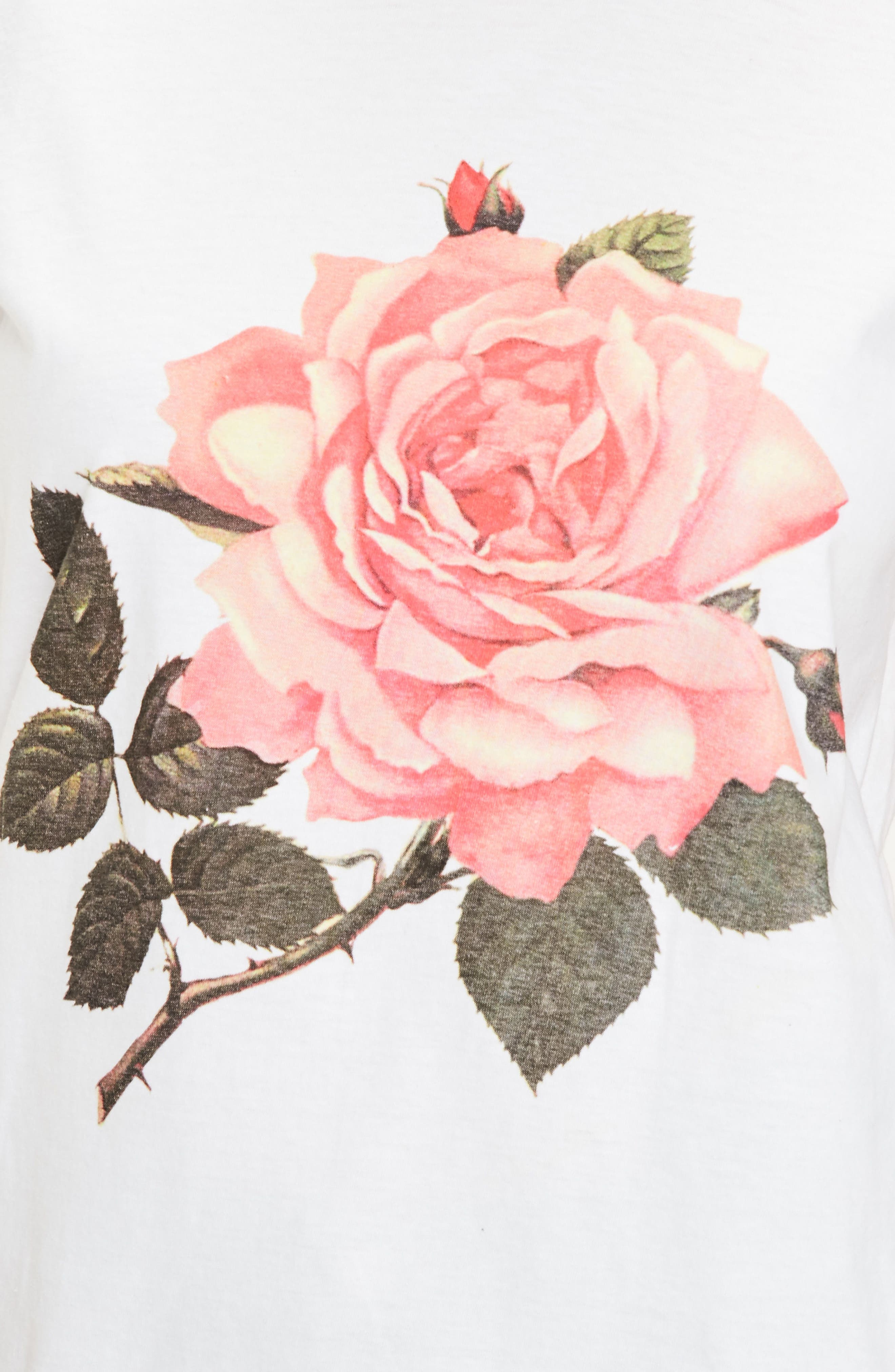 Alternate Image 4  - Missguided Floral Print Graphic Tee