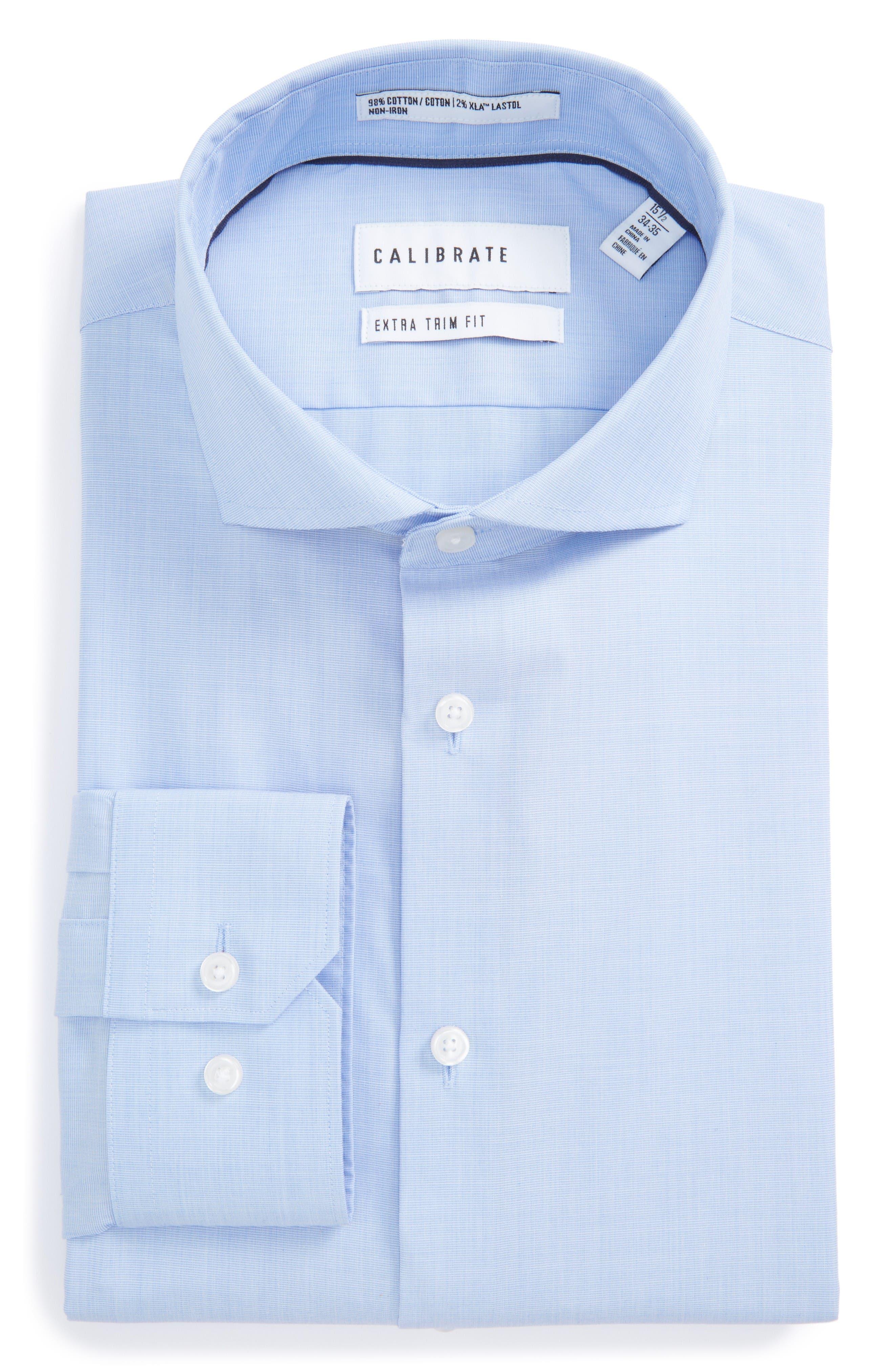 Calibrate Extra Trim Fit Stretch No-Iron Dress Shirt