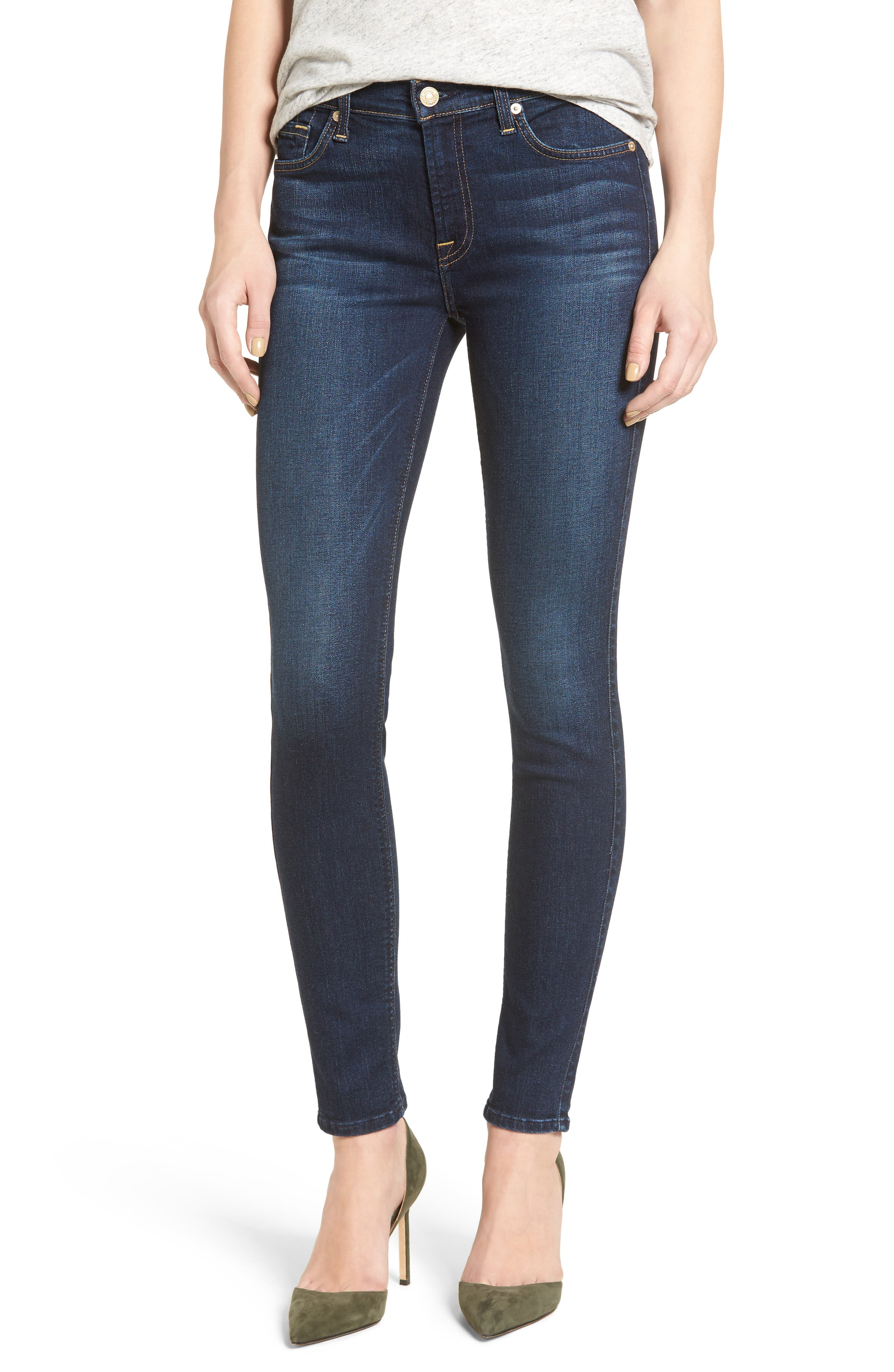 Main Image - 7 For All Mankind® Skinny Jeans (Santiago Canyon)
