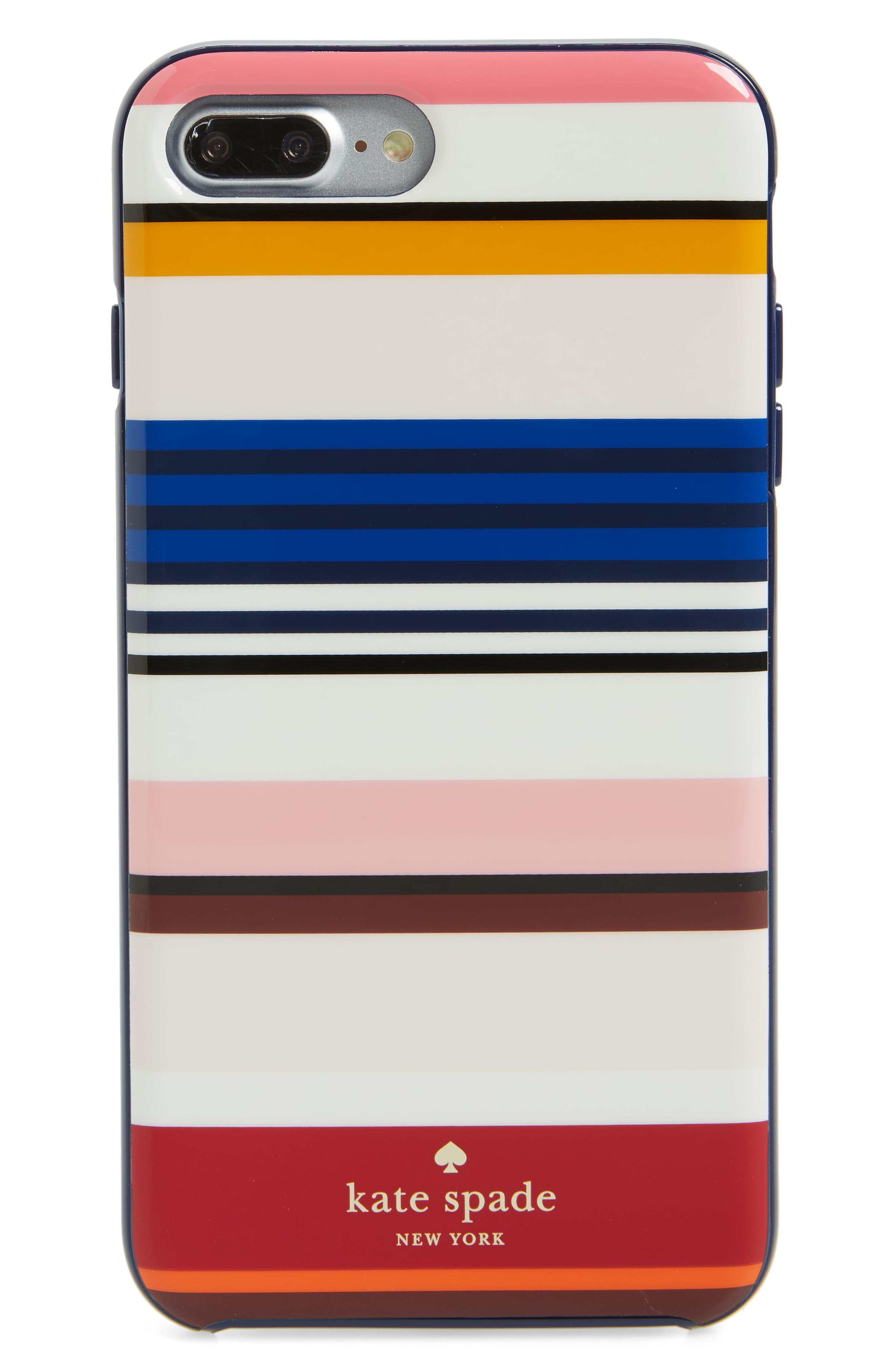 Main Image - kate spade new york berber stripe iPhone 7 Plus case