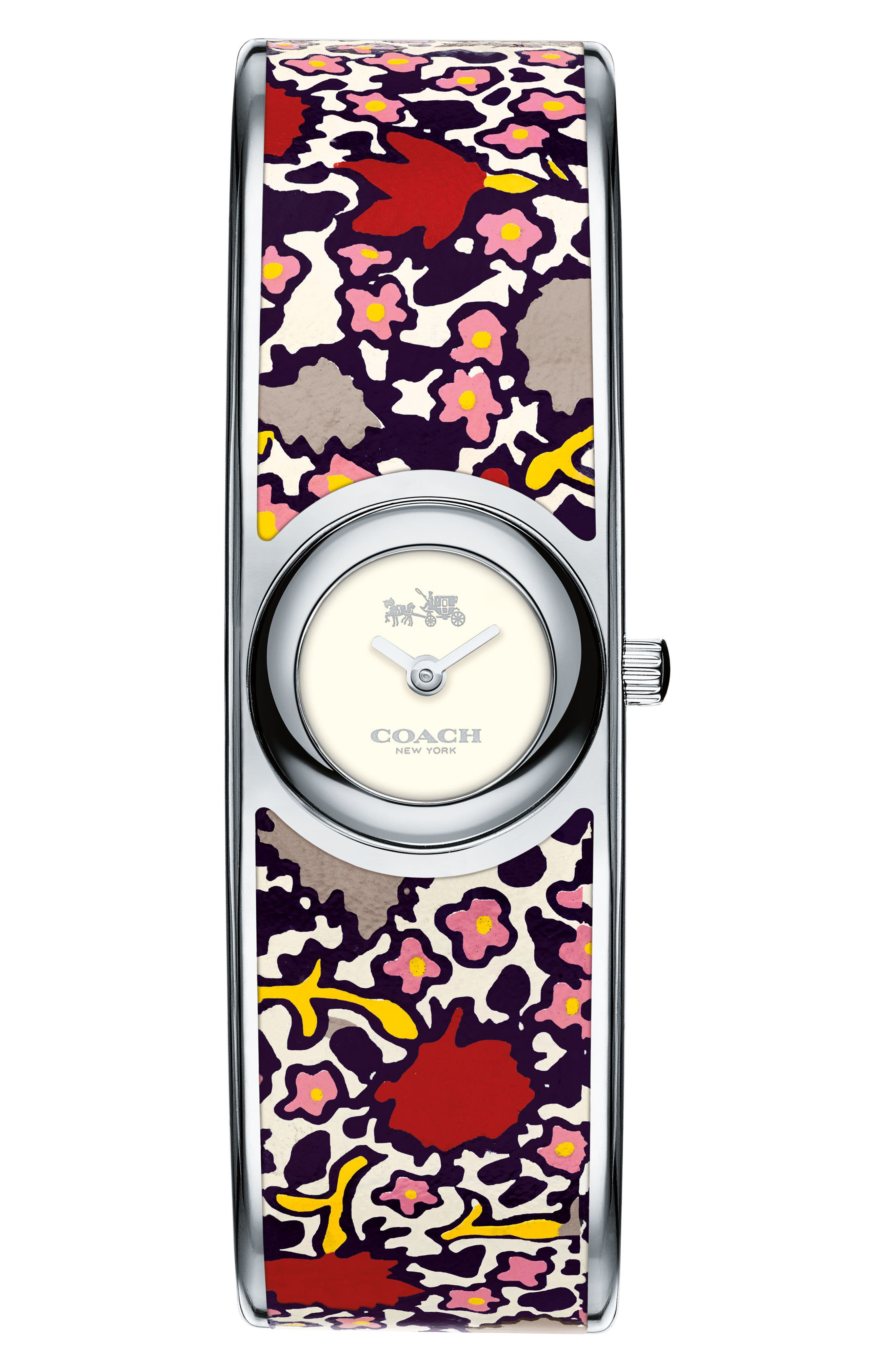 Scout Bangle Watch, 18mm,                         Main,                         color, Print/ Silver