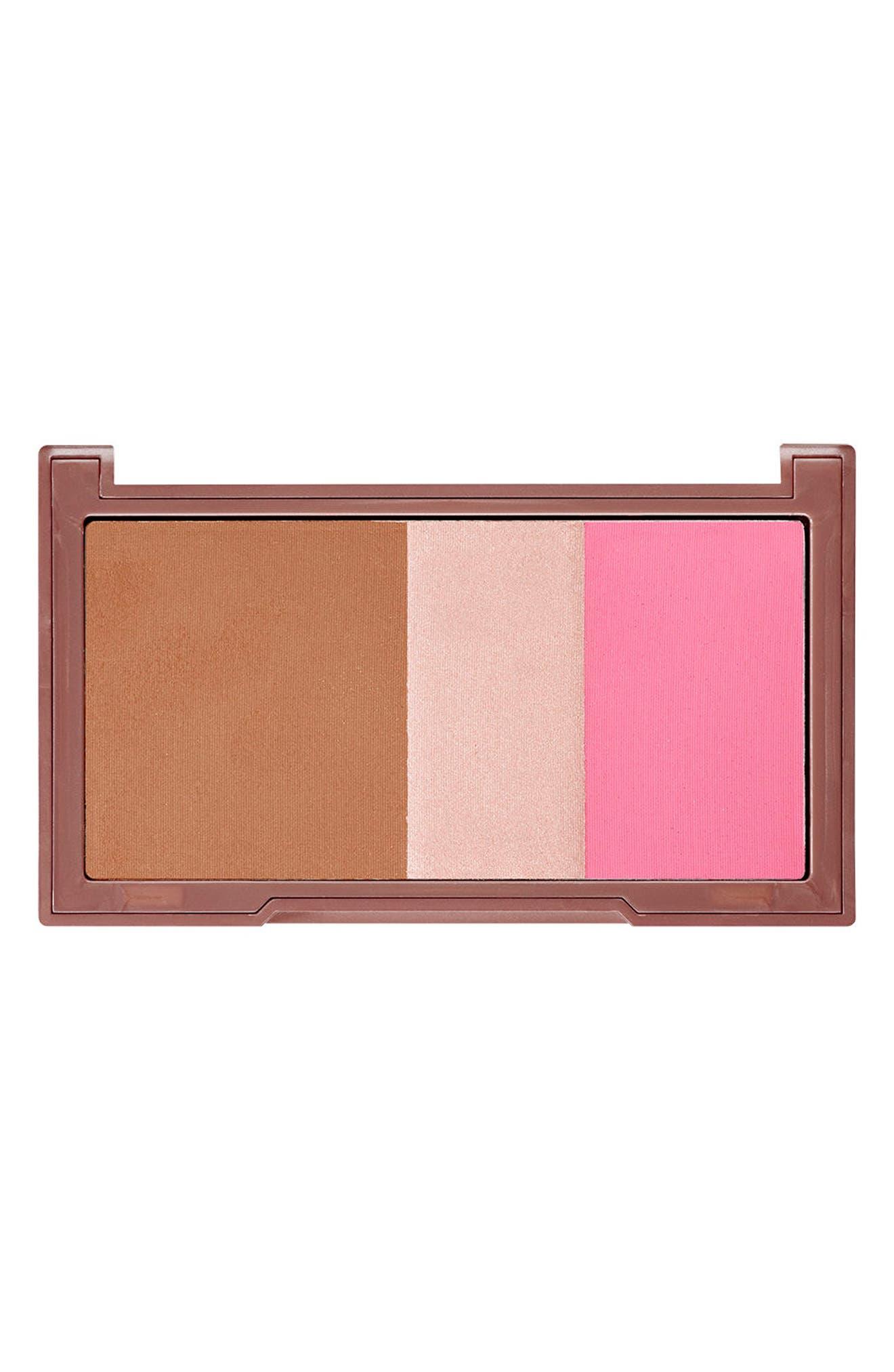 Naked Flushed Bronzer, Highlighter & Blush Palette,                             Main thumbnail 1, color,                             Going Native