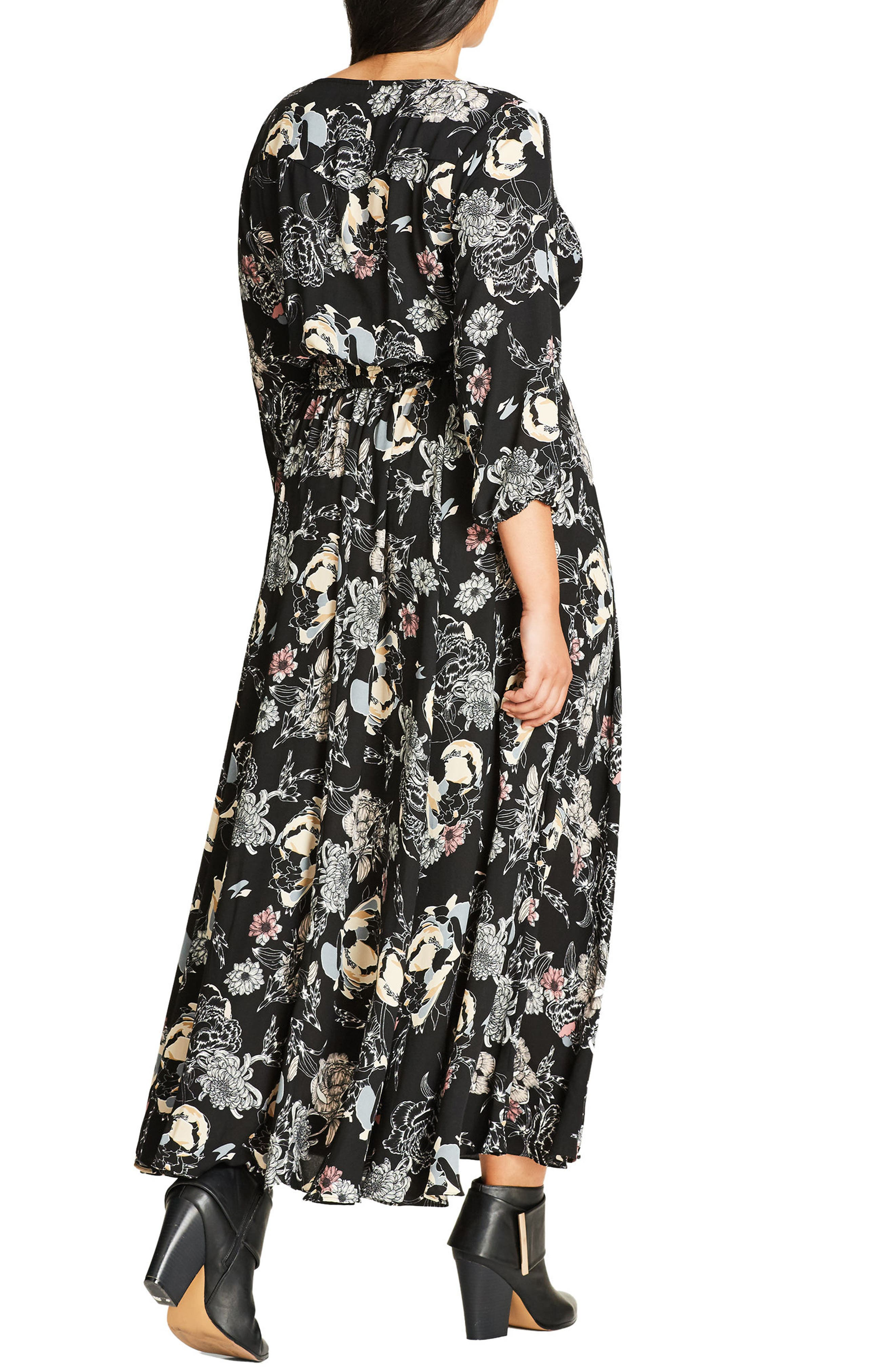 Alternate Image 2  - City Chic Floral Maxi Dress (Plus Size)