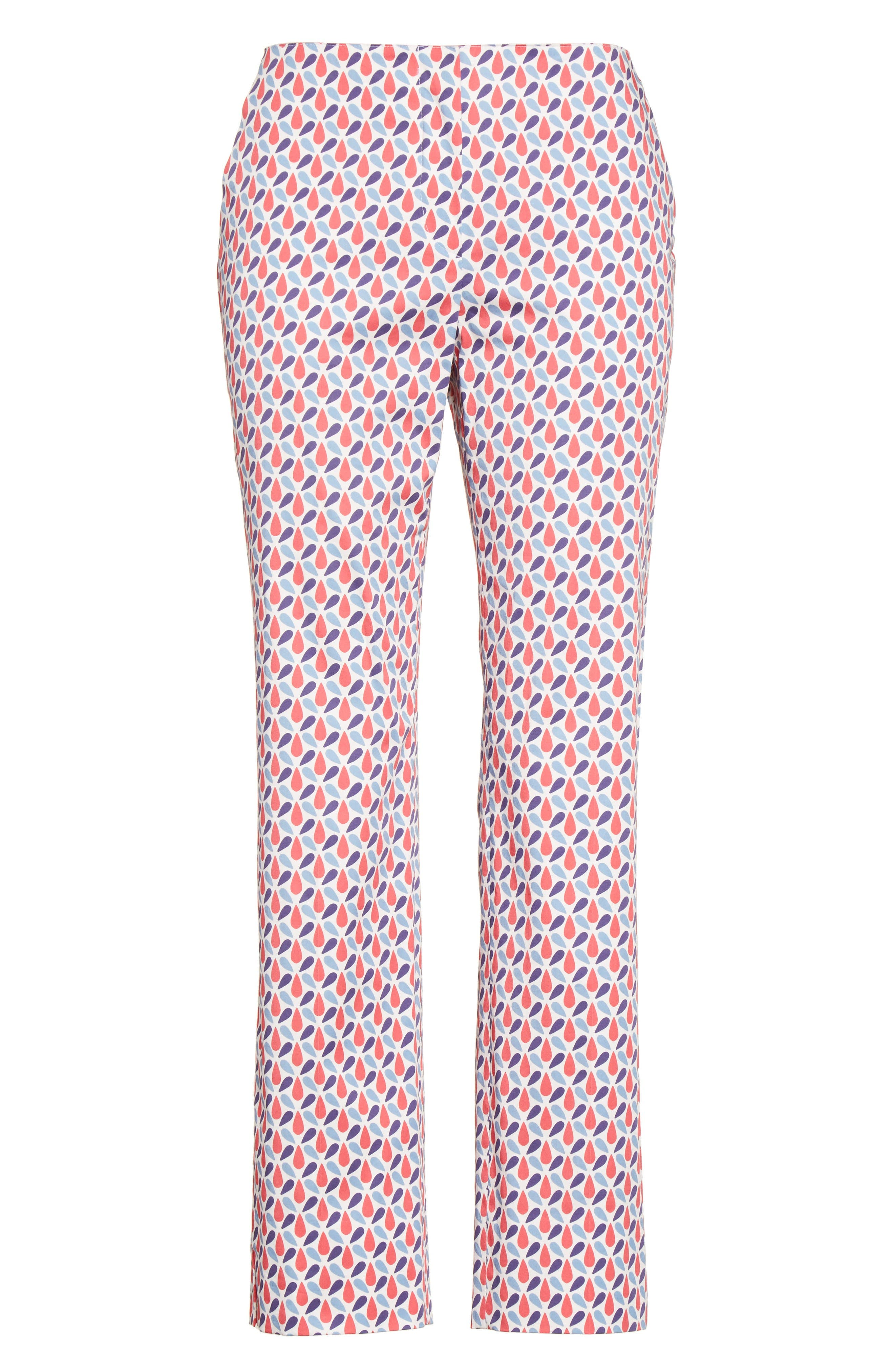 Alternate Image 4  - Armani Collezioni Print Stretch Cotton Ankle Pants