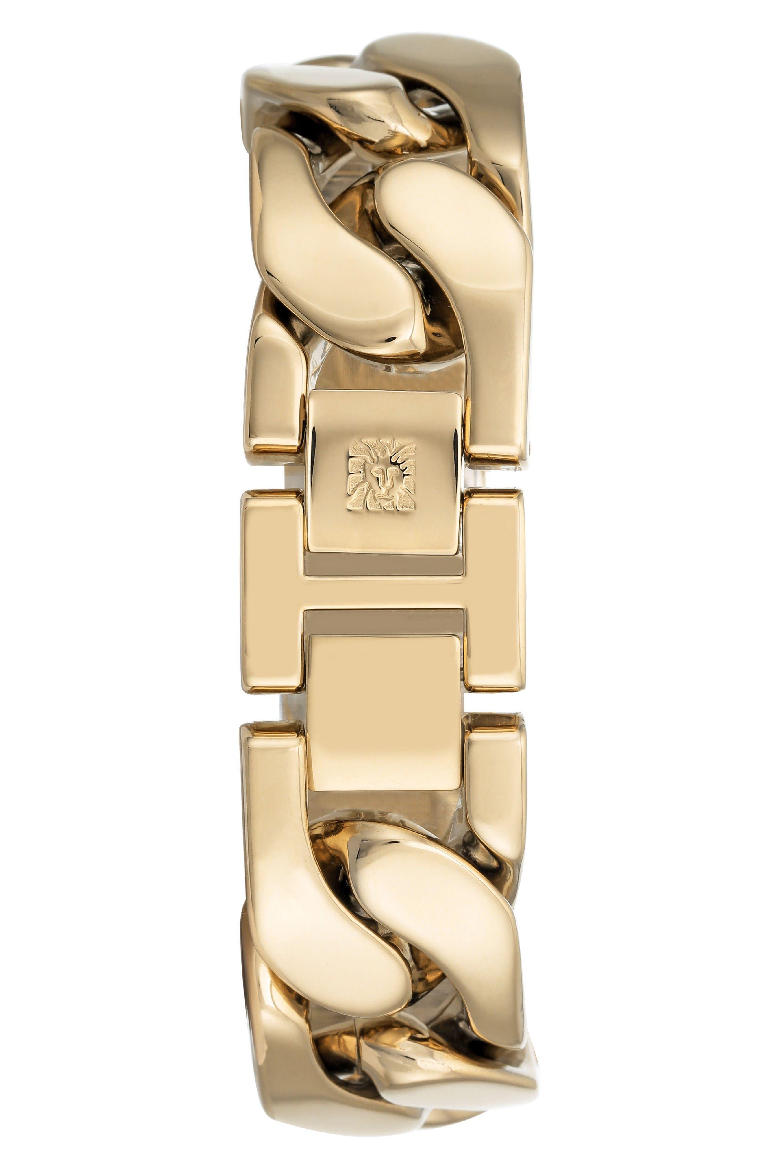 Bracelet Watch, 20.5mm,                             Alternate thumbnail 2, color,                             Gold