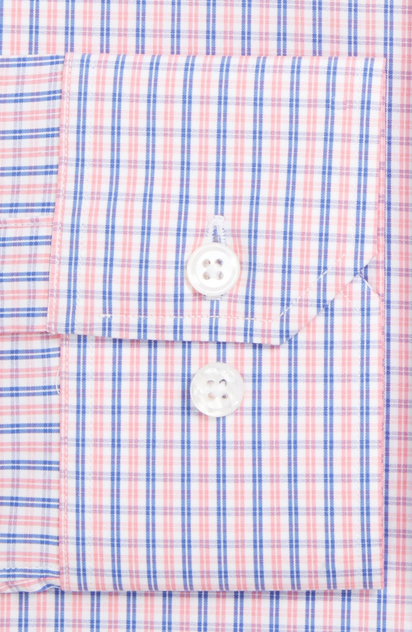 Jetsetter Slim Fit Check Stretch Dress Shirt,                             Alternate thumbnail 2, color,                             Pink Wright