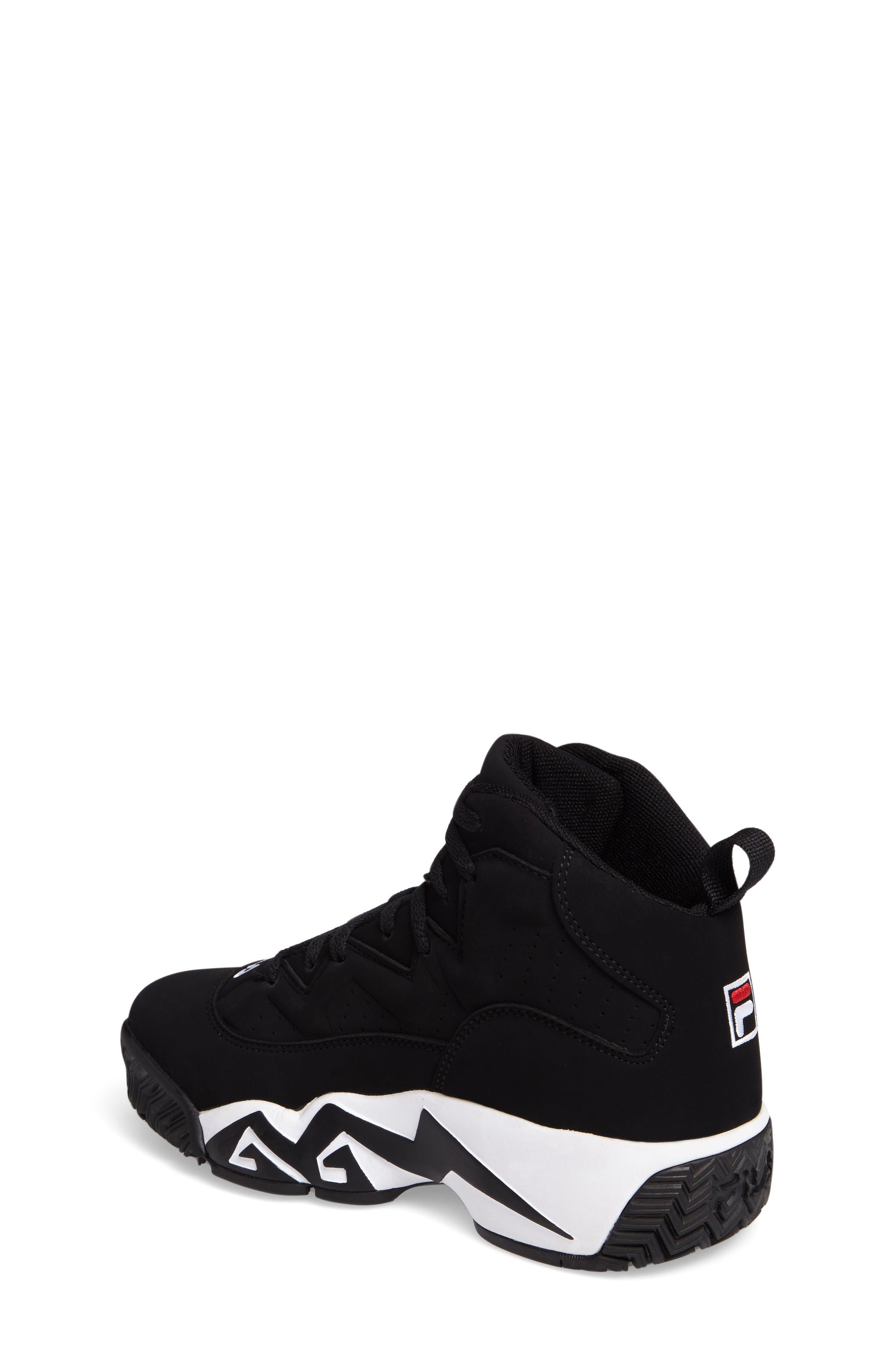Heritage Sneaker,                             Alternate thumbnail 2, color,                             Black/ White Nubuck Leather