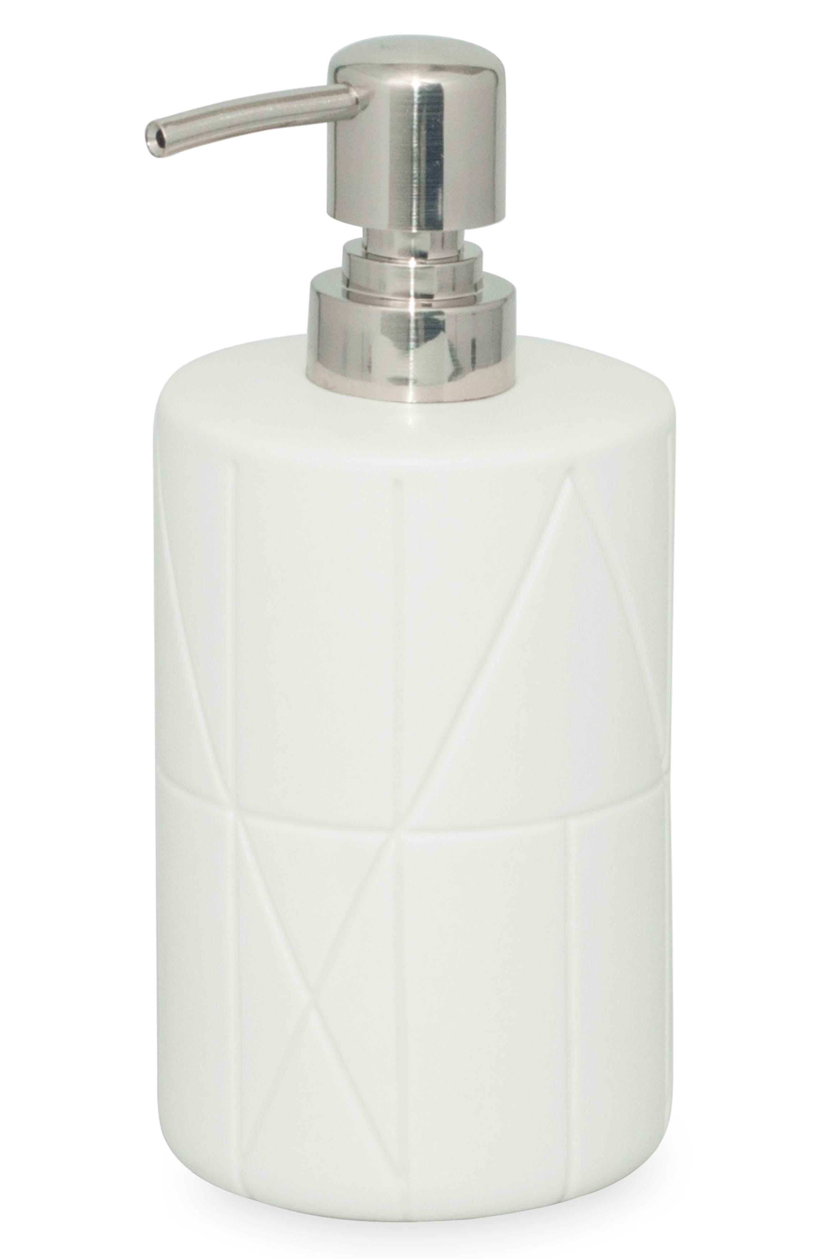 Geometrix Lotion Pump,                             Main thumbnail 1, color,                             White