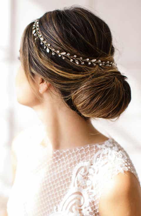 Brides Hairpins Lucina Crystal Halo Sash