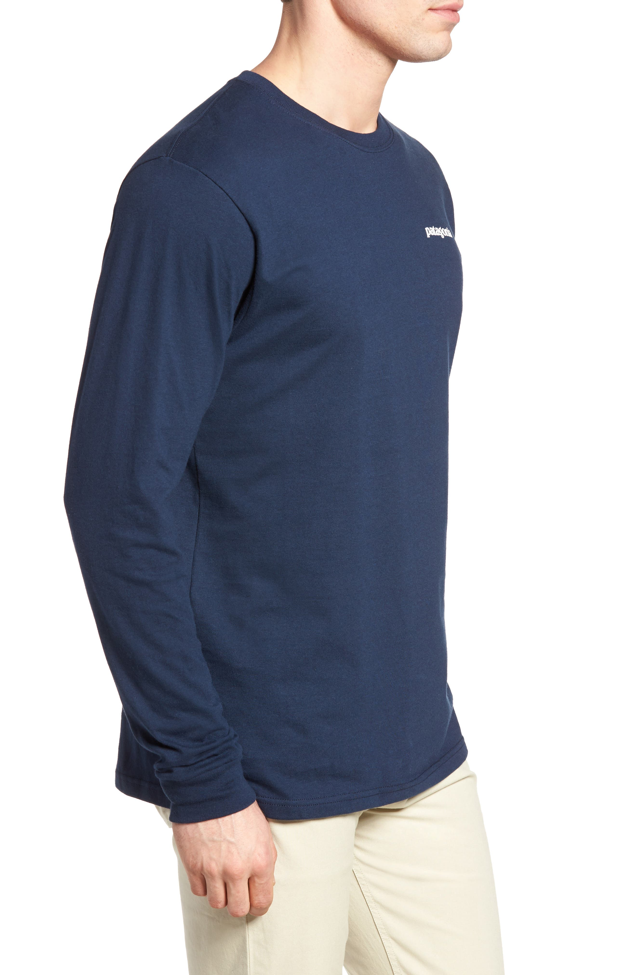 P-6 Logo Organic Cotton T-Shirt,                             Alternate thumbnail 3, color,                             Blue