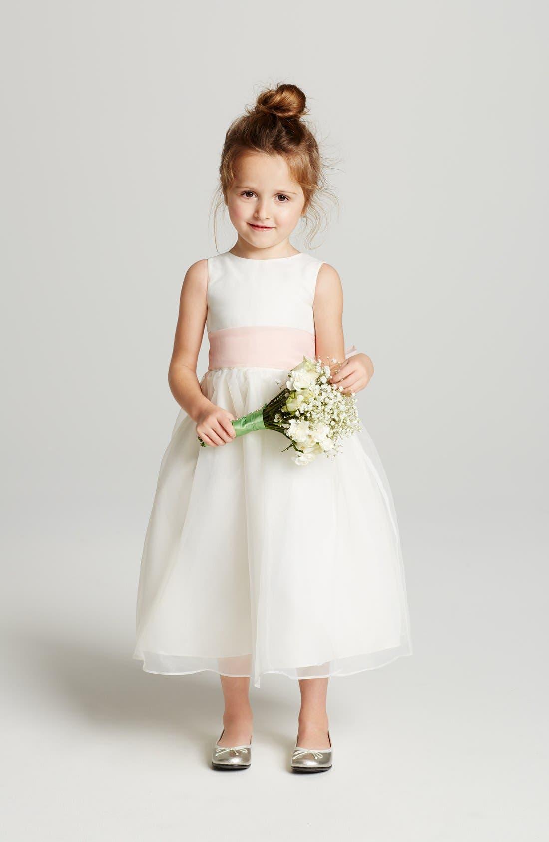 Alternate Image 2  - Us Angels Sleeveless Organza Dress (Toddler Girls, Little Girls & Big Girls)