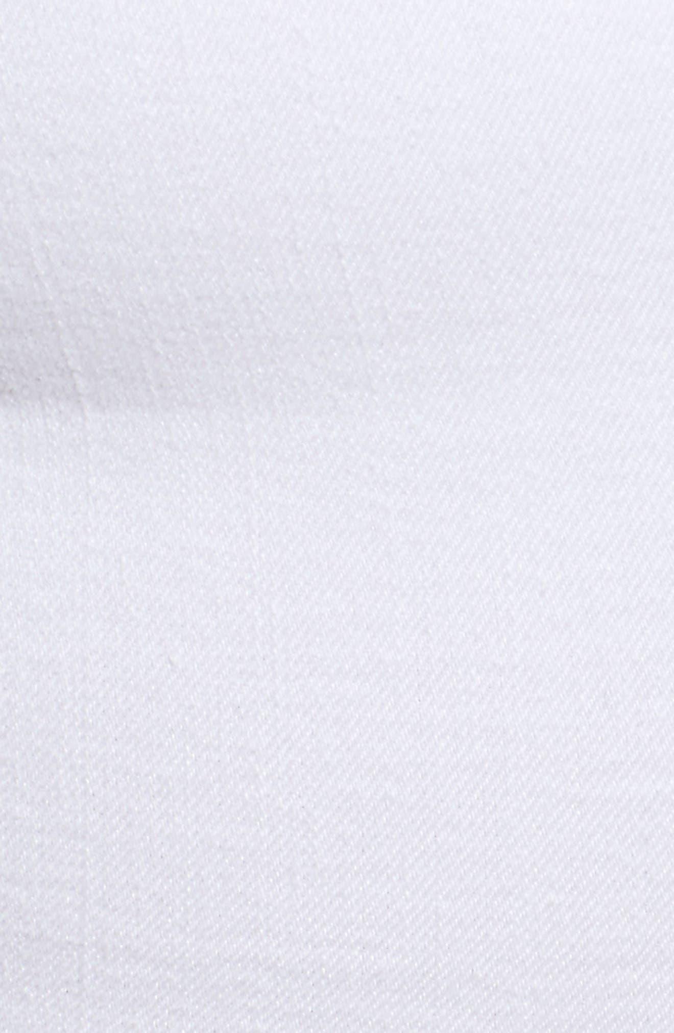 Destroyed Cutoff Denim Shorts,                             Alternate thumbnail 6, color,                             White 004