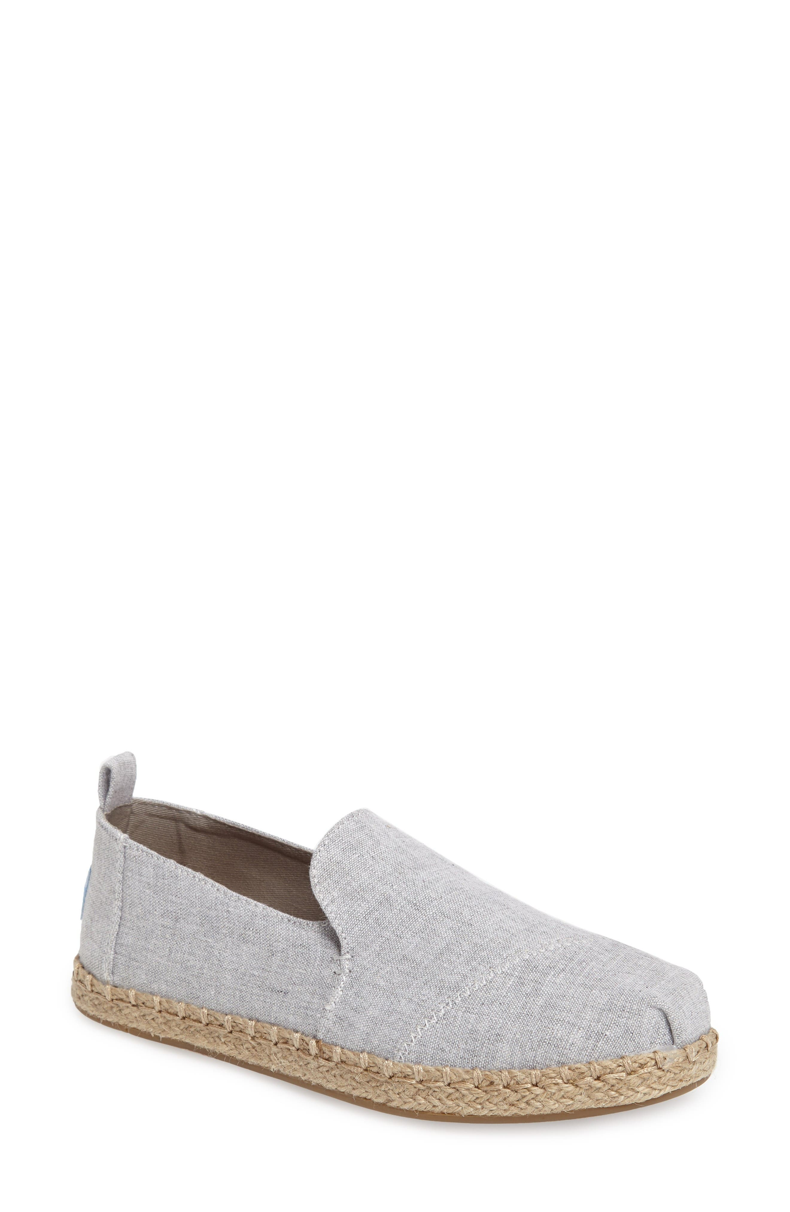 Espadrille Slip-On,                             Main thumbnail 1, color,                             Grey