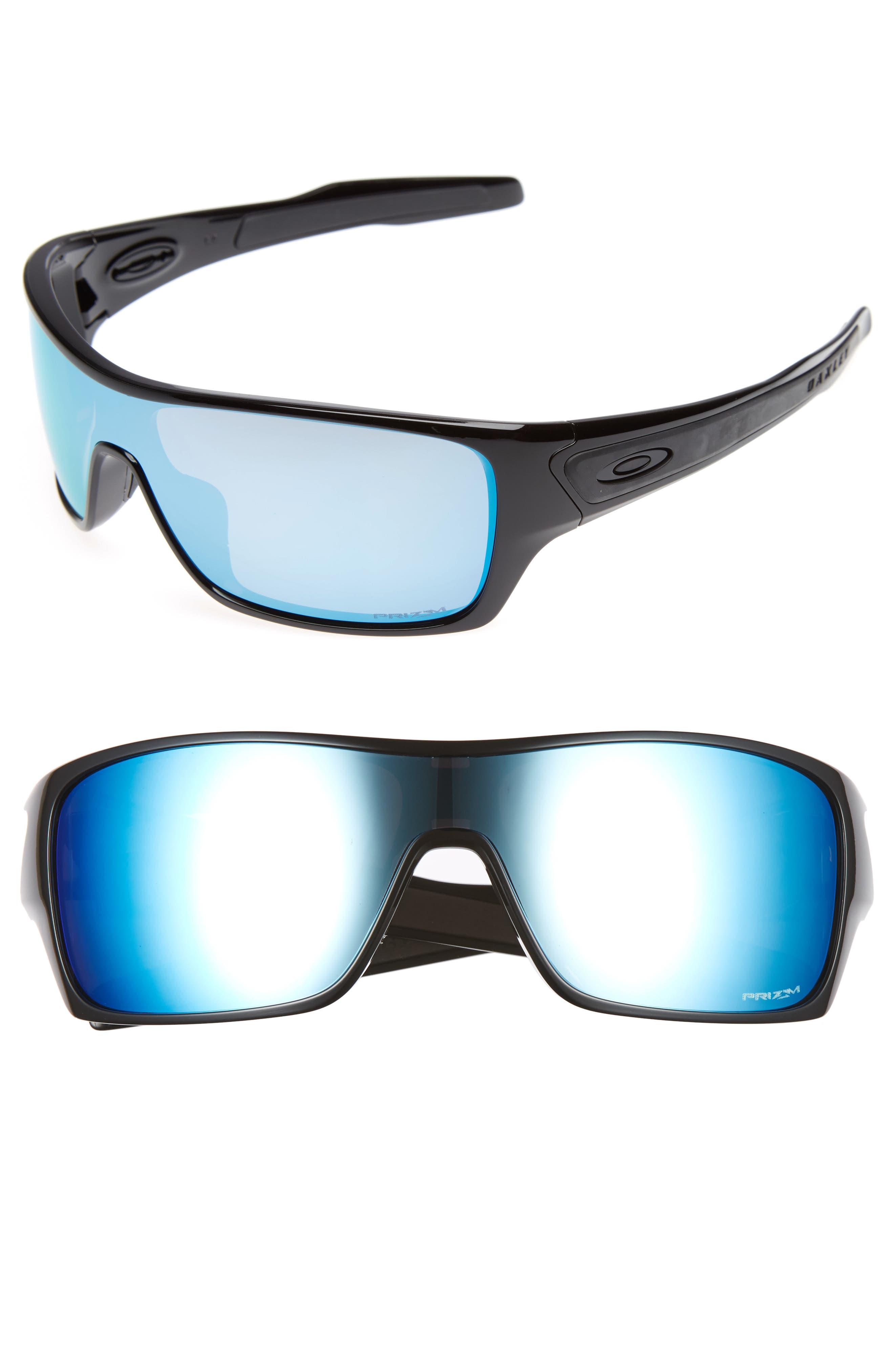 OAKLEY POLARIZED TURBINE ROTOR PRIZM DEEP WATER SUNGLASSES, OO9307, BLACK/BLUE