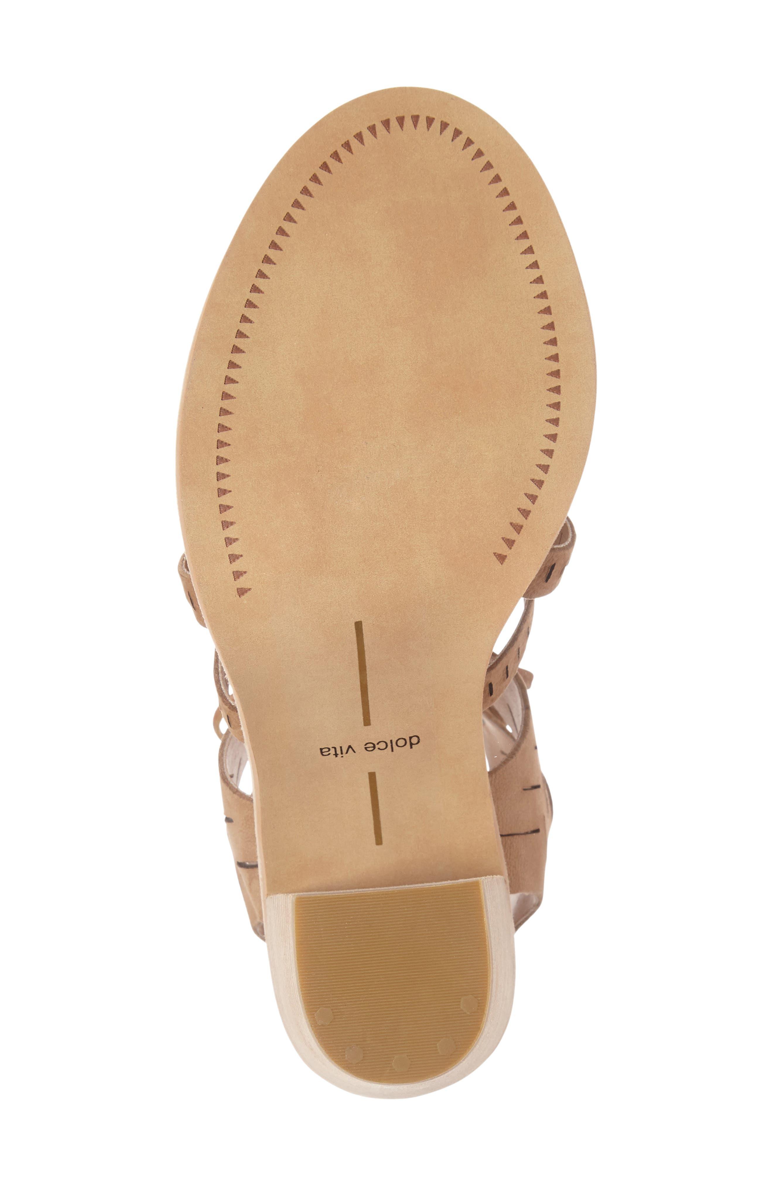 Luci Ghillie Lace Sandal,                             Alternate thumbnail 4, color,                             Saddle Nubuck Leather