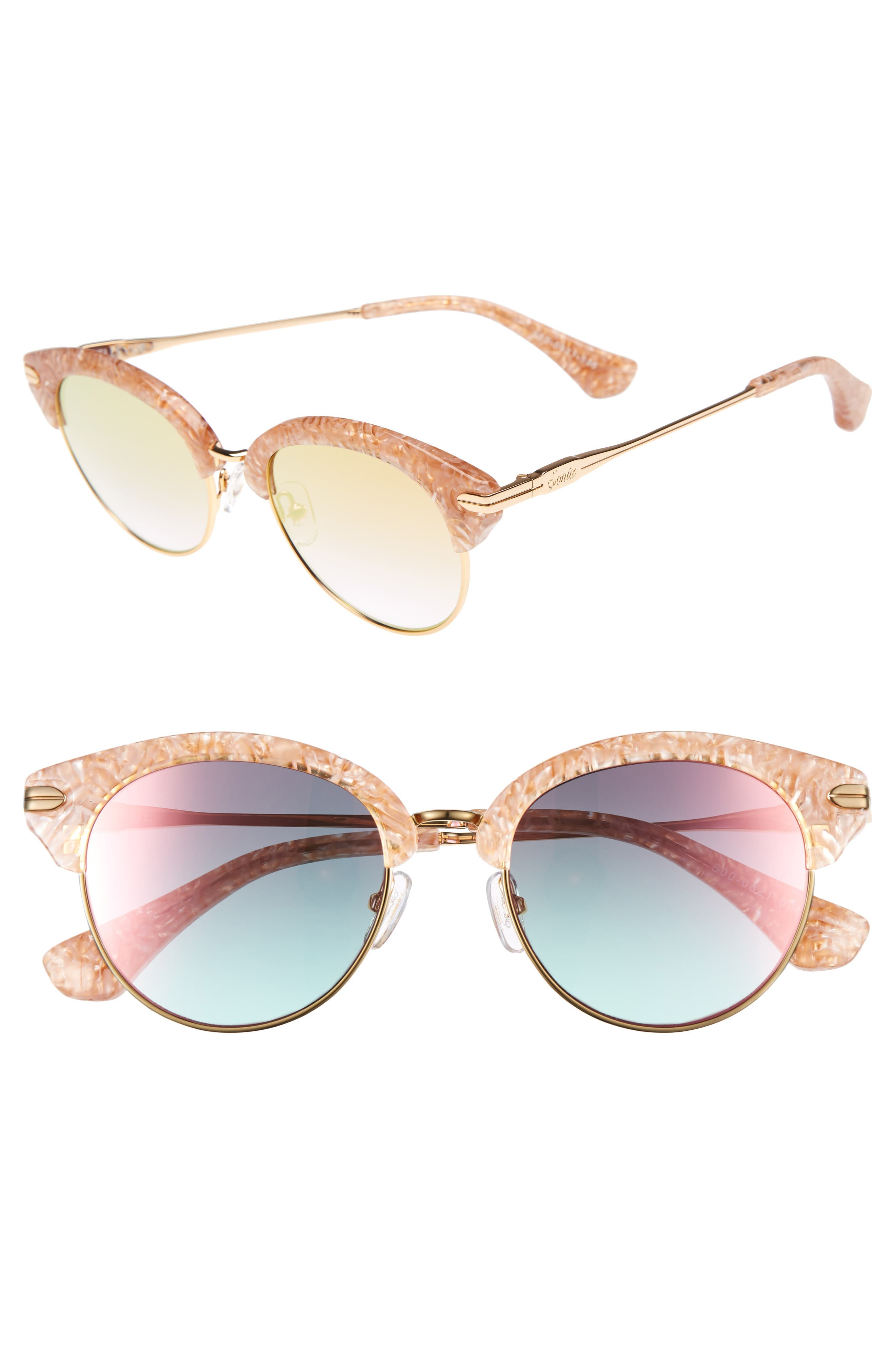 Sonix Bellevue 50mm Mirrored Sunglasses