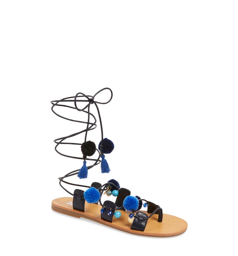 BP. Laney Pompom Lace-Up Sandal