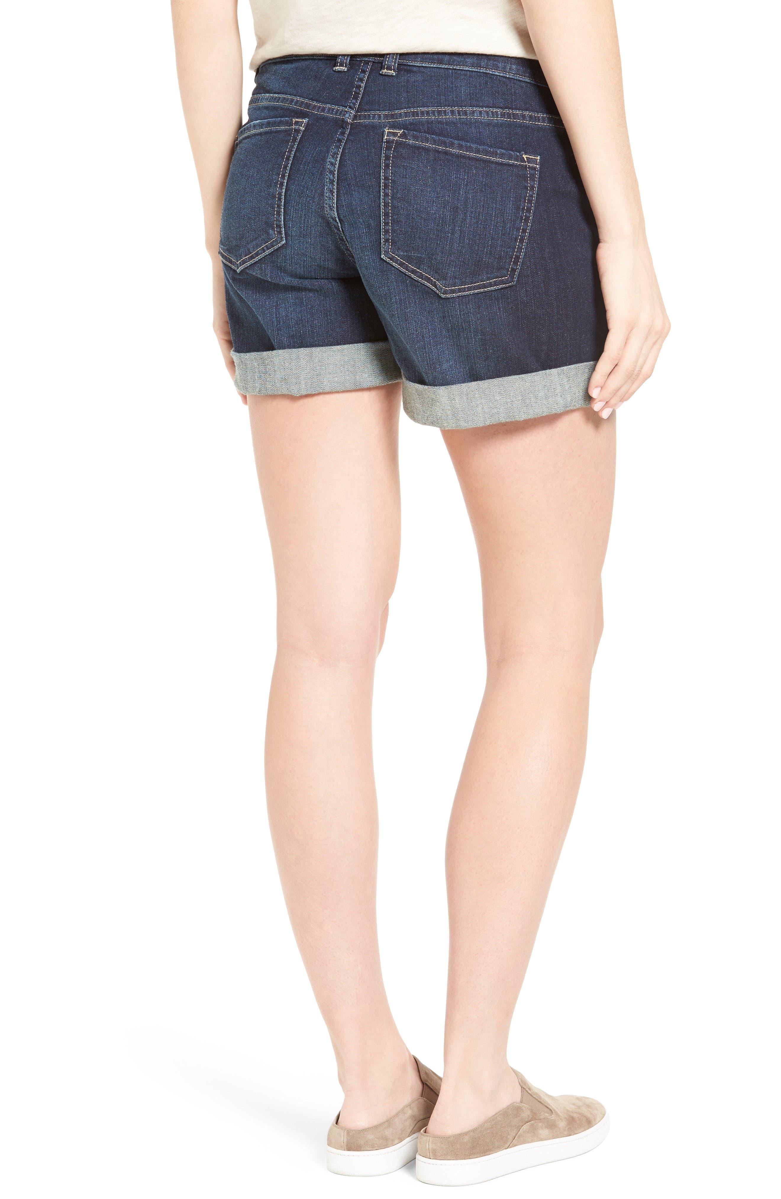 Alternate Image 3  - Caslon® Denim Boyfriend Shorts (Regular & Petite)