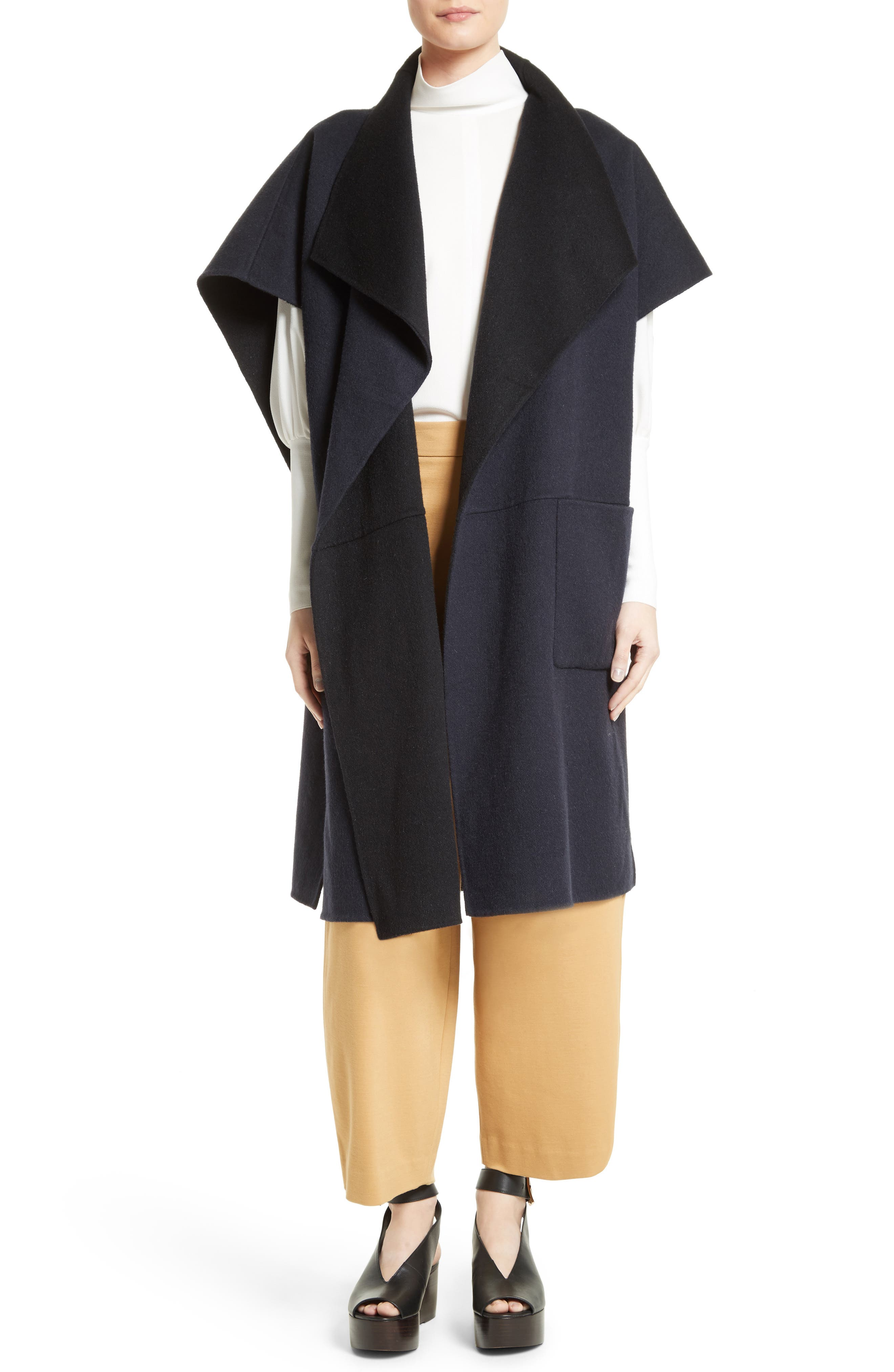 Tibi Wool & Angora Reversible Cape