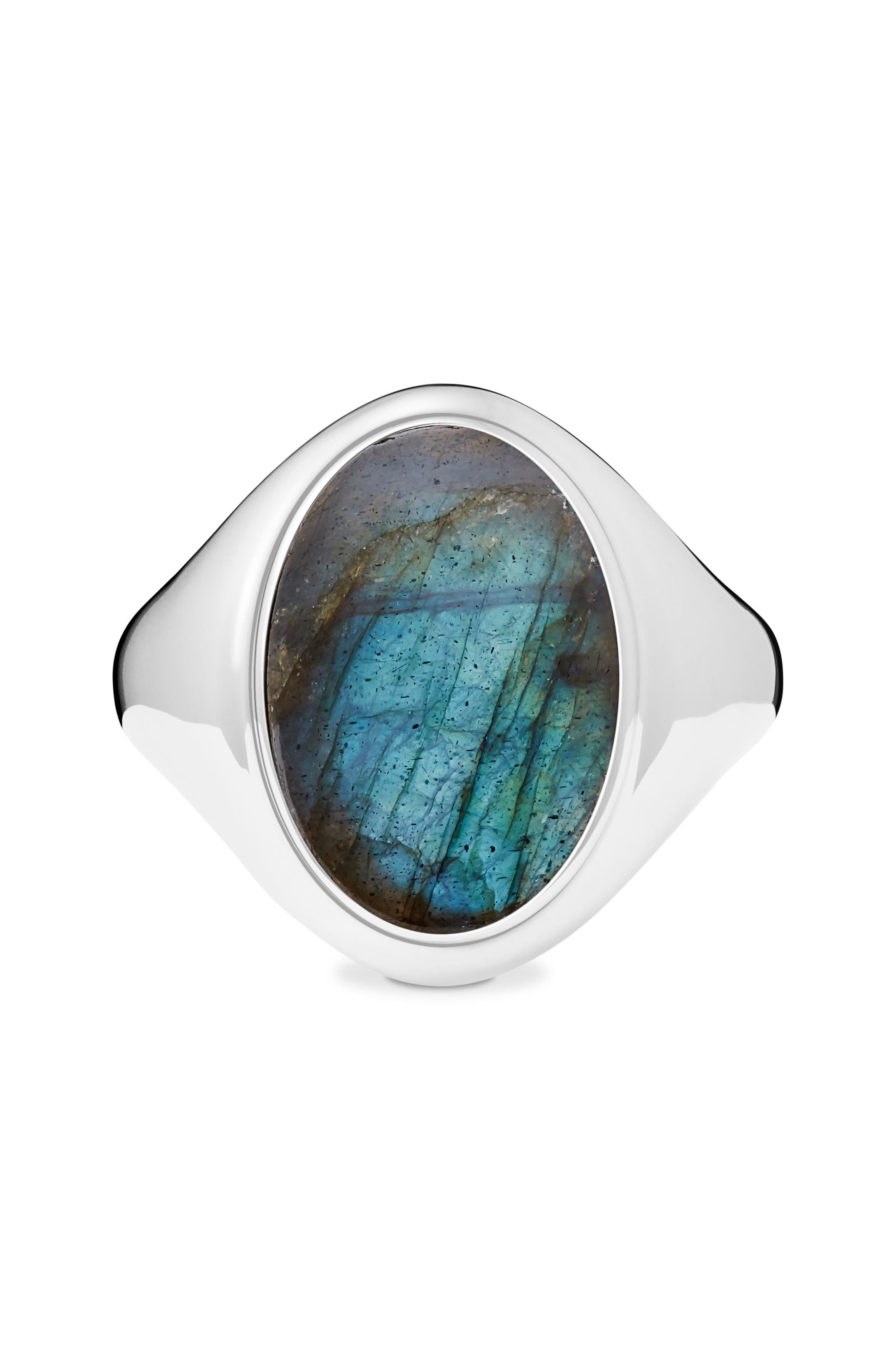 Shinola Statement Labradorite Signet Ring